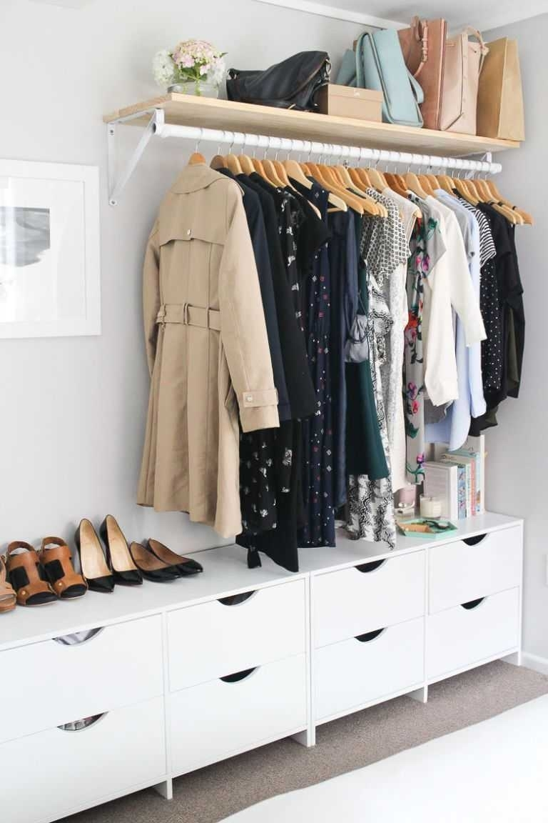 10 Attractive Closet Ideas For Rooms Without Closets %name 2020
