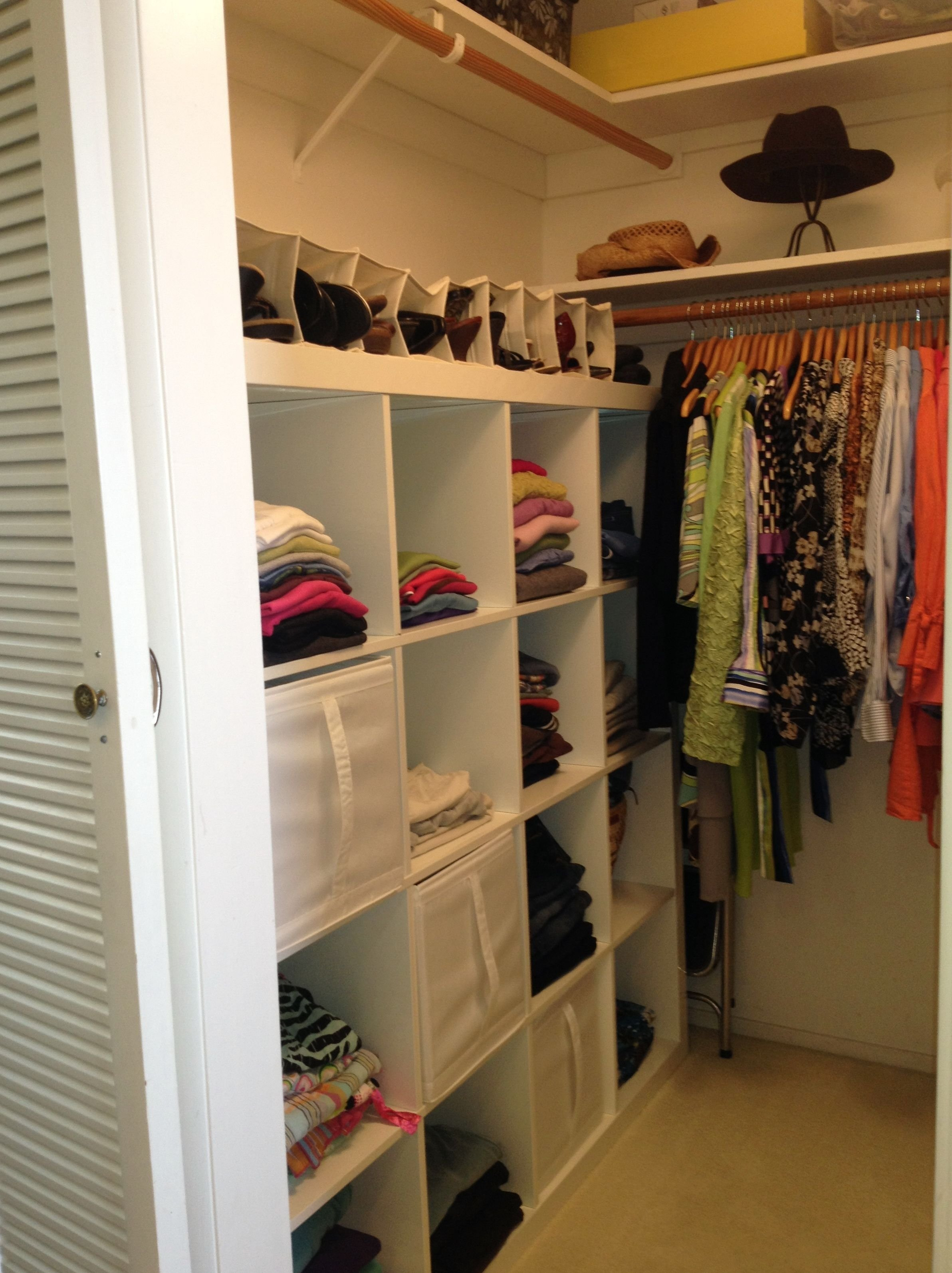 closet organization ideas for small walk in closets | for the home