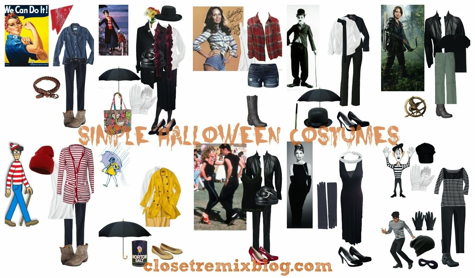 closet remix: remix it! simple halloween costumes in your closet part 1