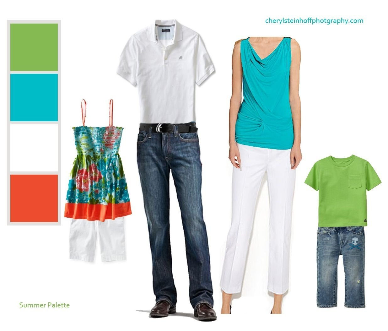 10 Cute Summer Family Photo Clothing Ideas clothing color combination for summer family portraits portraits 2020