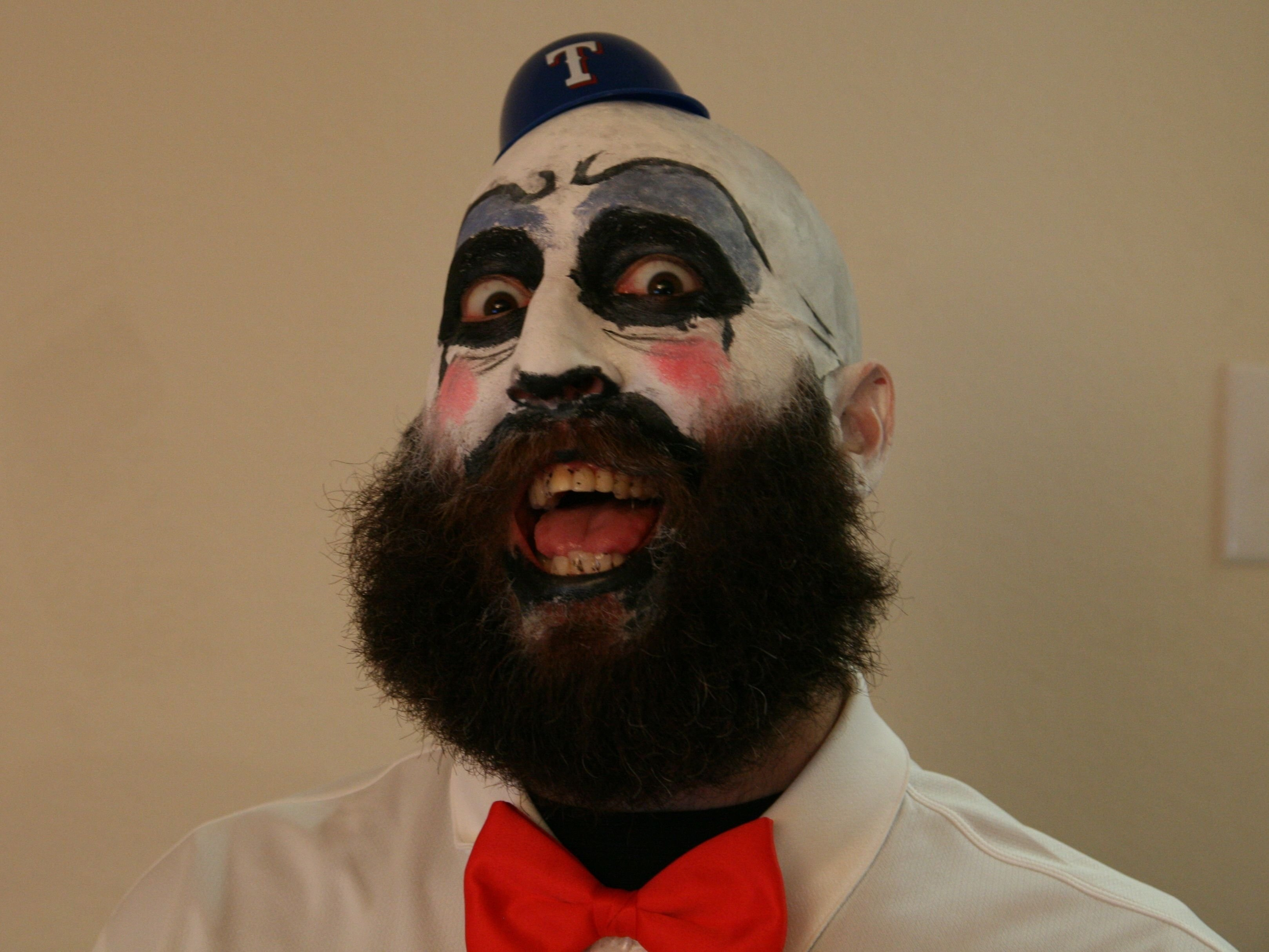 10 Stylish Halloween Costume Ideas For Bearded Men clown makeup with beard posted february 27 1212am halloween 3 2020