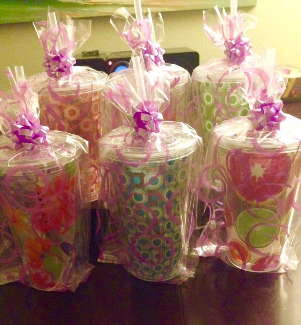 10 Pretty Ideas For Baby Shower Prizes co ed baby shower prizes cups bags bows and plastic filling from 2020