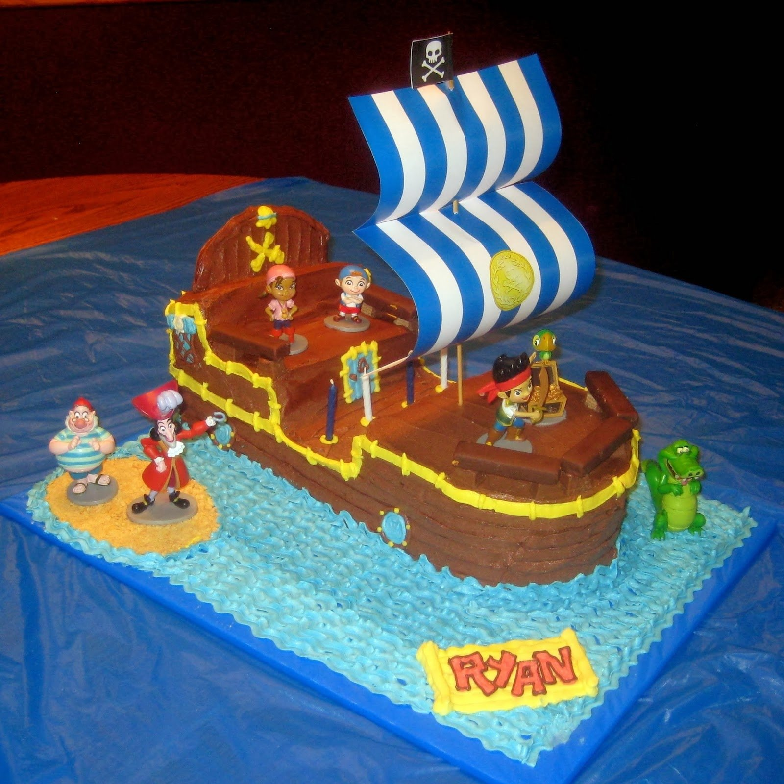 10 Lovable Jake And The Neverland Pirates Cake Ideas cobo bucky the pirate ship cake jake and the neverland pirates 2021