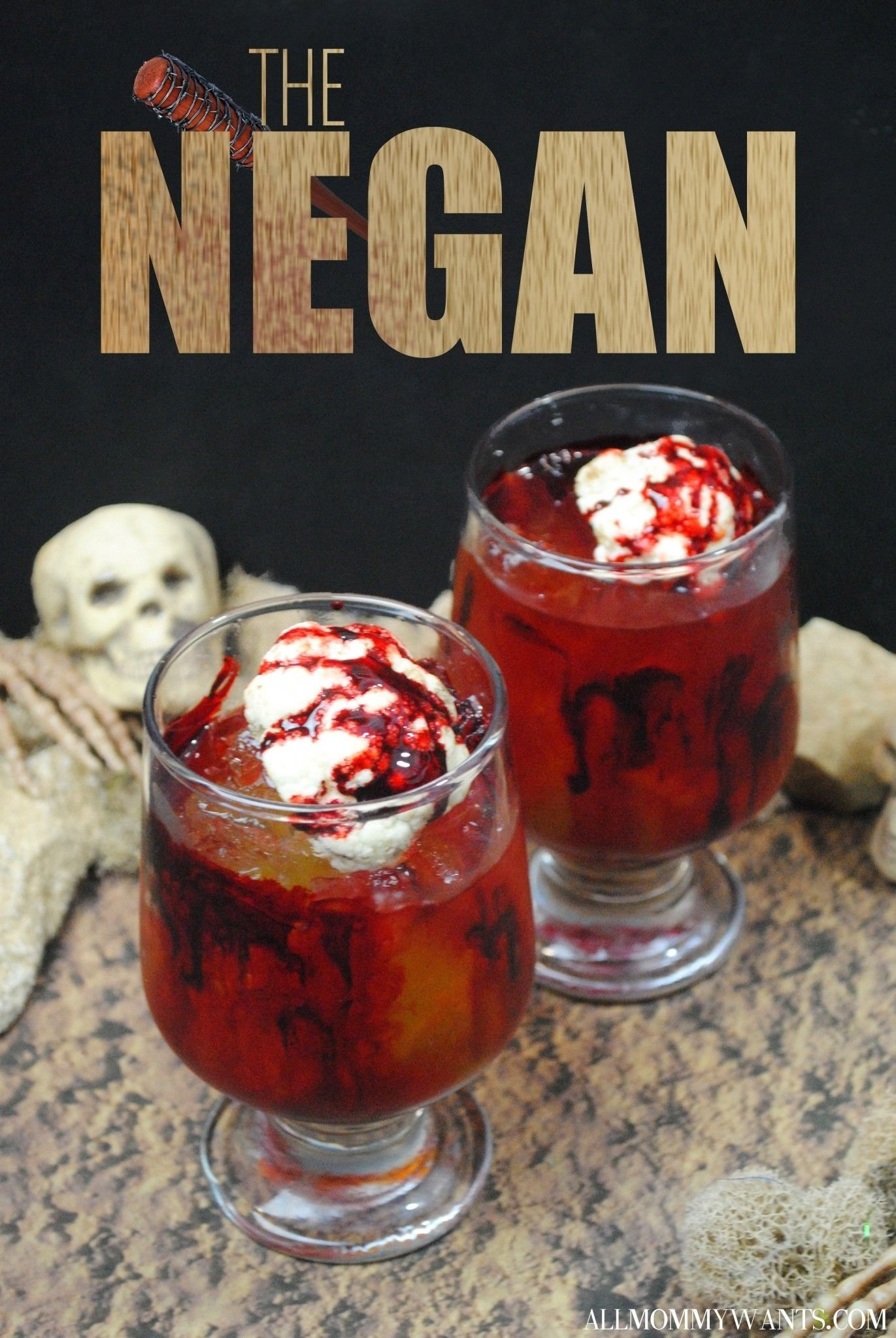 10 Unique Walking Dead Party Food Ideas cocktail the negan the walking dead inspired drink halloween 2020