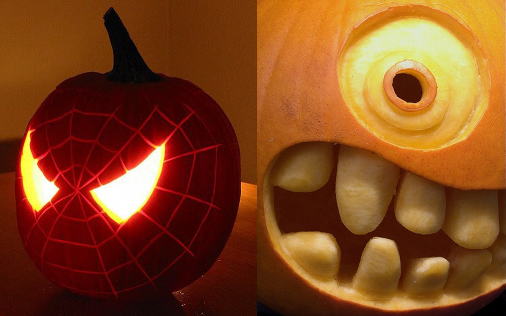 10 Wonderful Cool Ideas For Pumpkin Carving collection pumpkin carving faces ideas pictures halloween ideas 4 2020