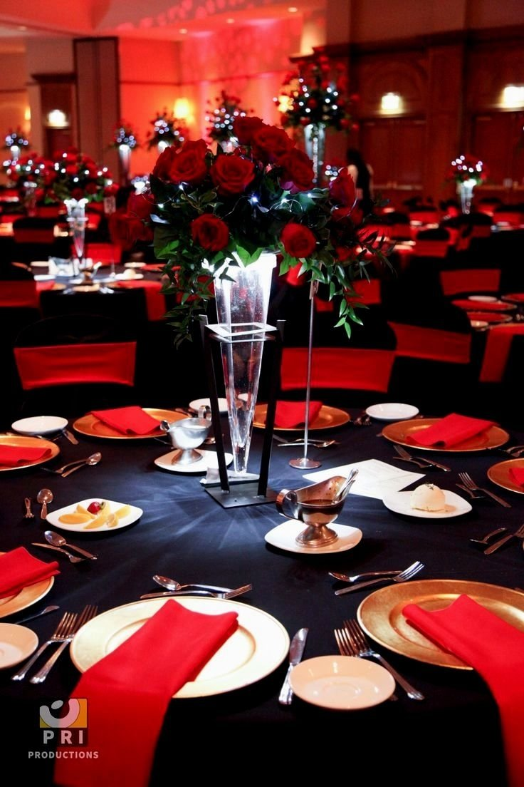 10 Fabulous Red Black And White Wedding Ideas collections of red black gold wedding theme wedding ideas red and