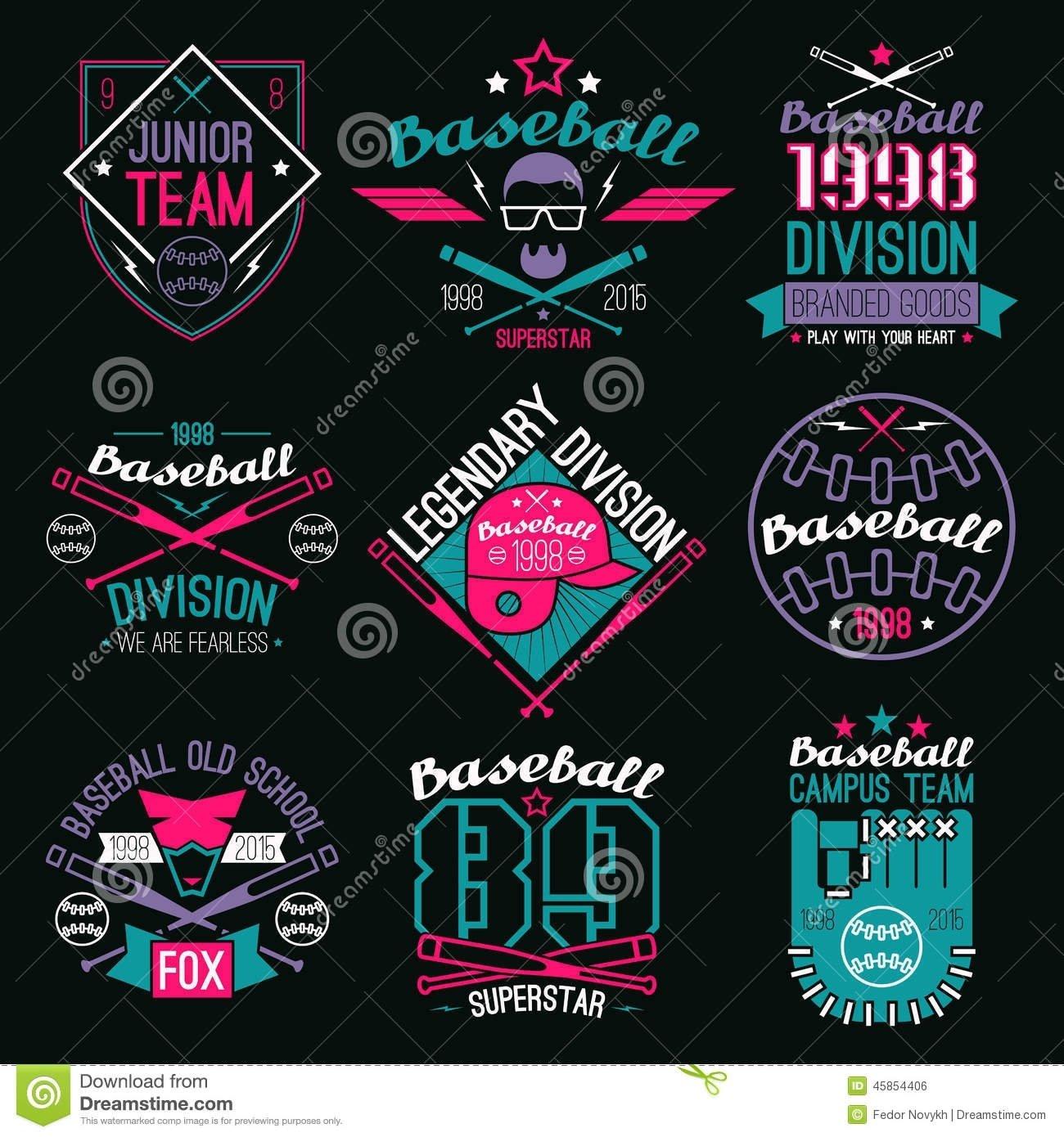 10 Famous Baseball T Shirt Designs Ideas college baseball team emblems stock vector illustration of