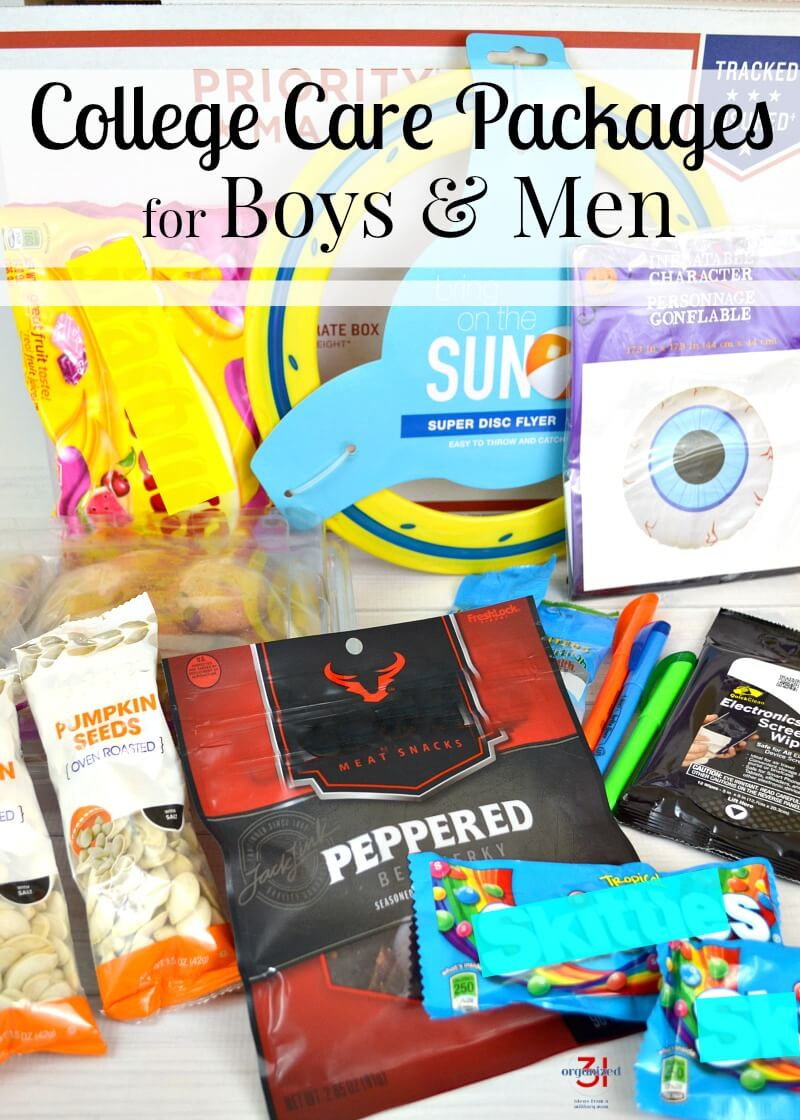 college care package ideas for guys - organized 31