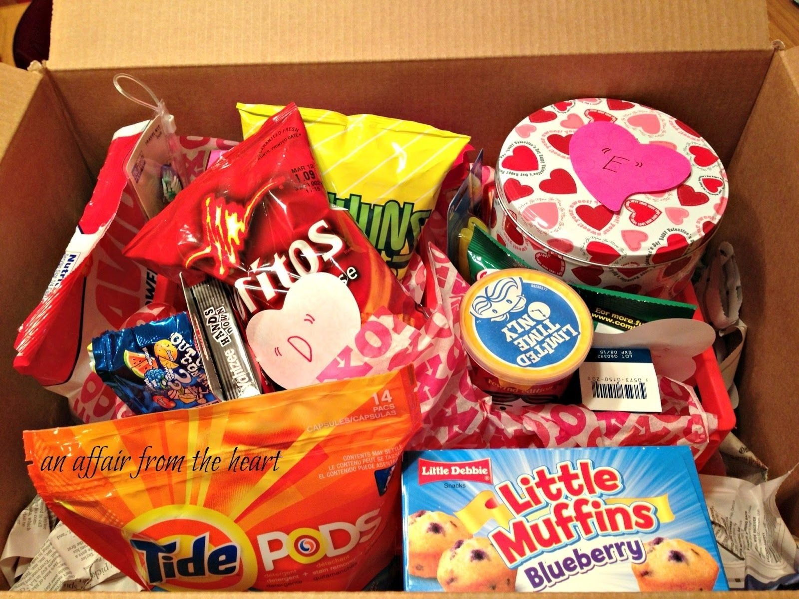 10 Awesome College Care Package Ideas For Girls college care package valentine style change it up for any occasion