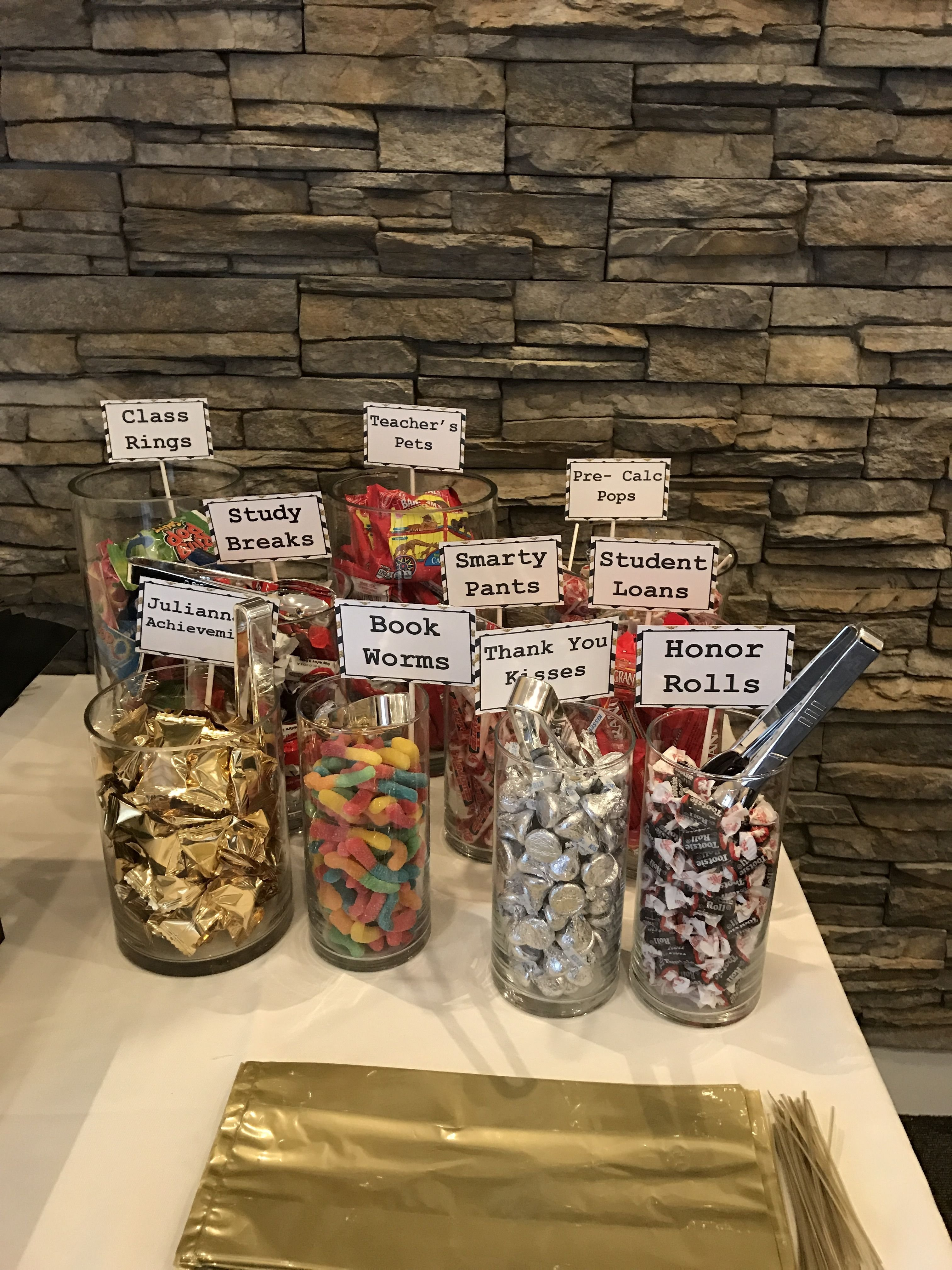 college graduation themed candy bar! | party | pinterest | college