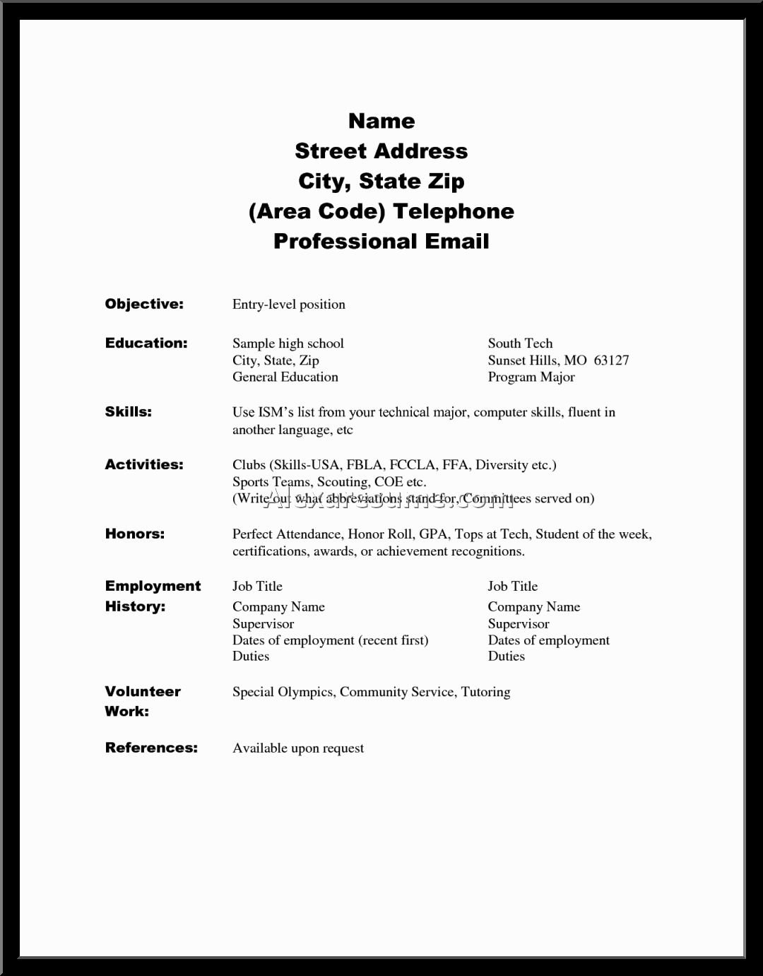 10 Stylish High School Senior Project Ideas college resume examples for high school seniors resume and cover 1 2020