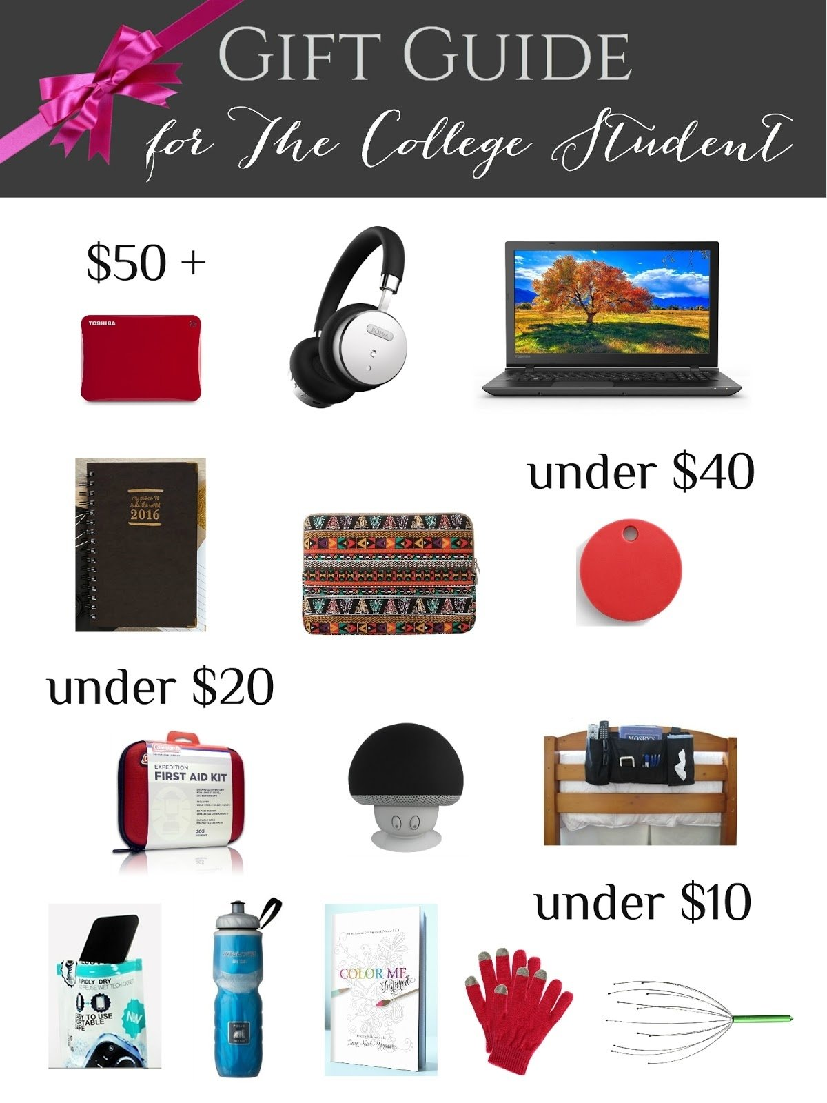 10 Unique Gift Ideas For College Freshmen college student gift guide crafting in the rain 2020