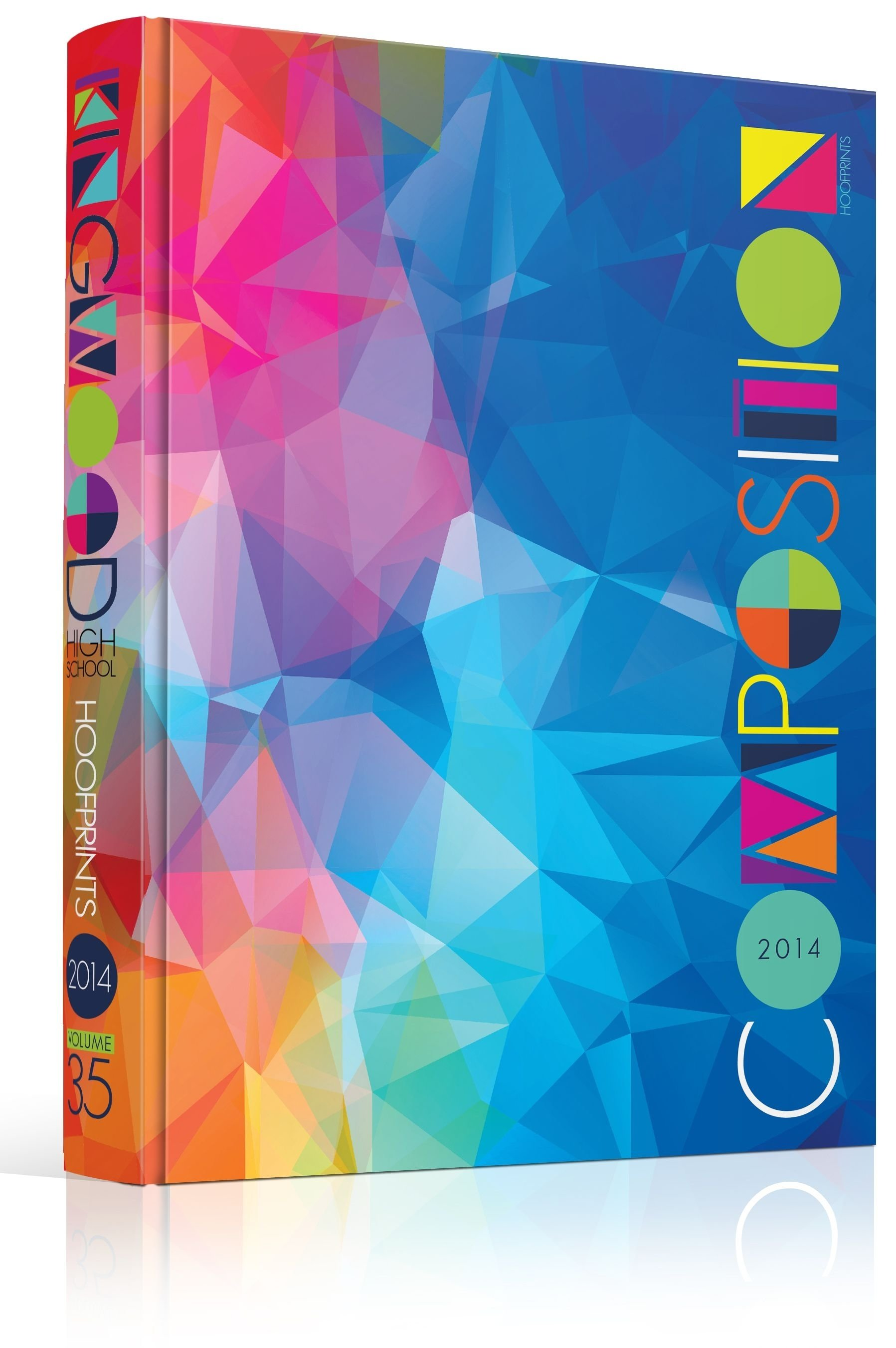 10 Fabulous Yearbook Ideas For Middle School color custom typography geometric abstract triangles low polygon 2020