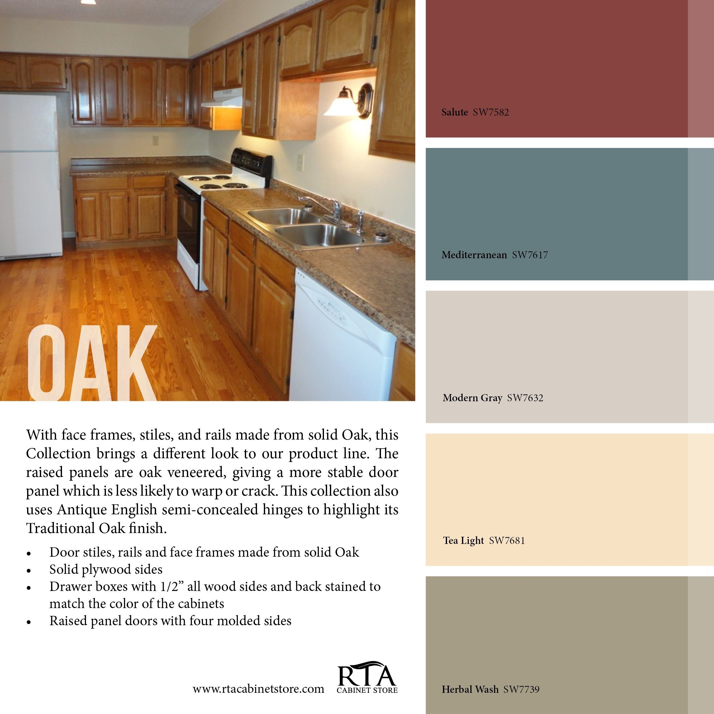 10 Fantastic Kitchen Color Ideas With Oak Cabinets color palette to go with oak kitchen cabinet line for those with 2020