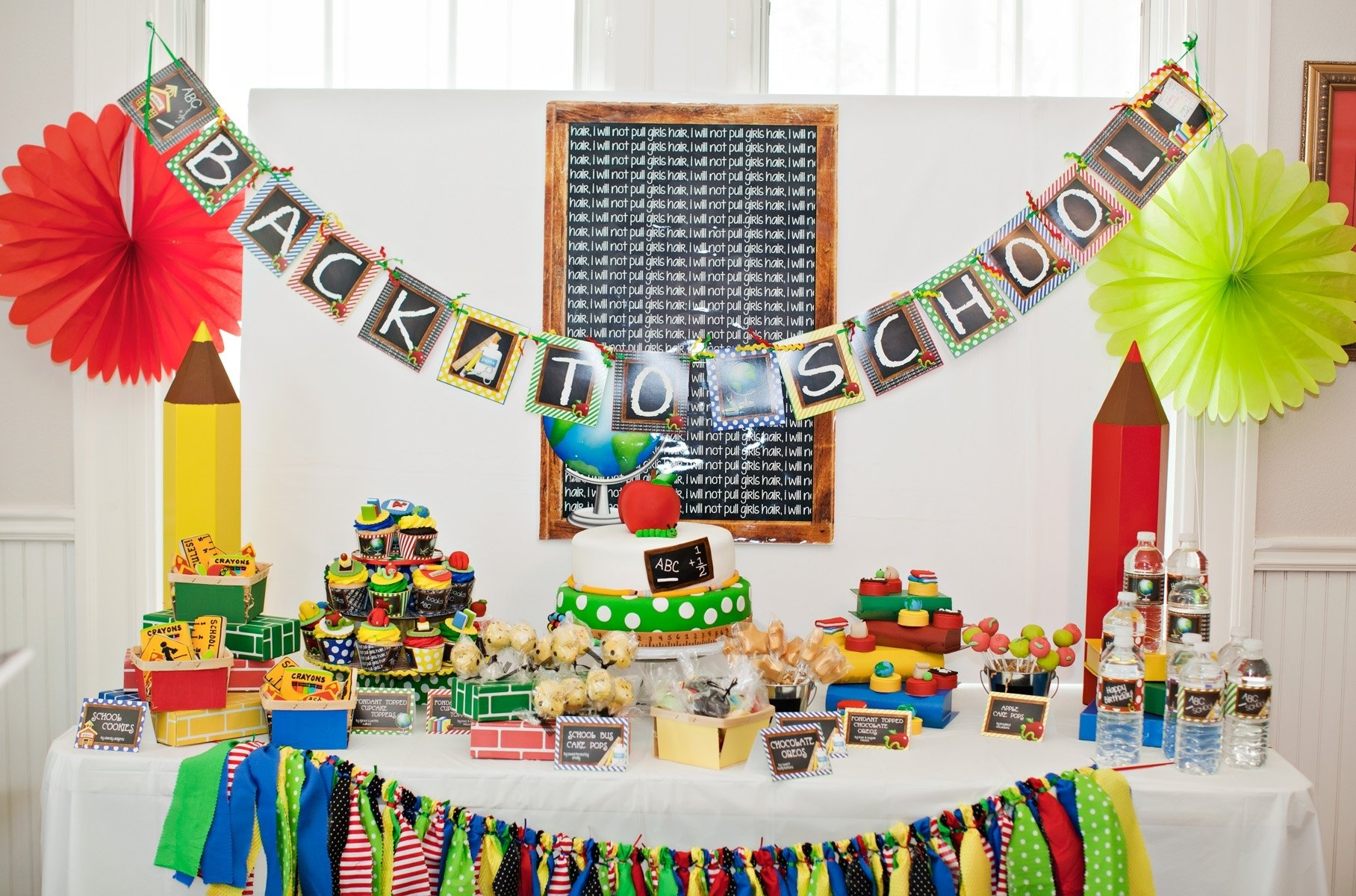 10 Beautiful Back To School Decoration Ideas colorful and bright back to school party giggles galore 3 2020
