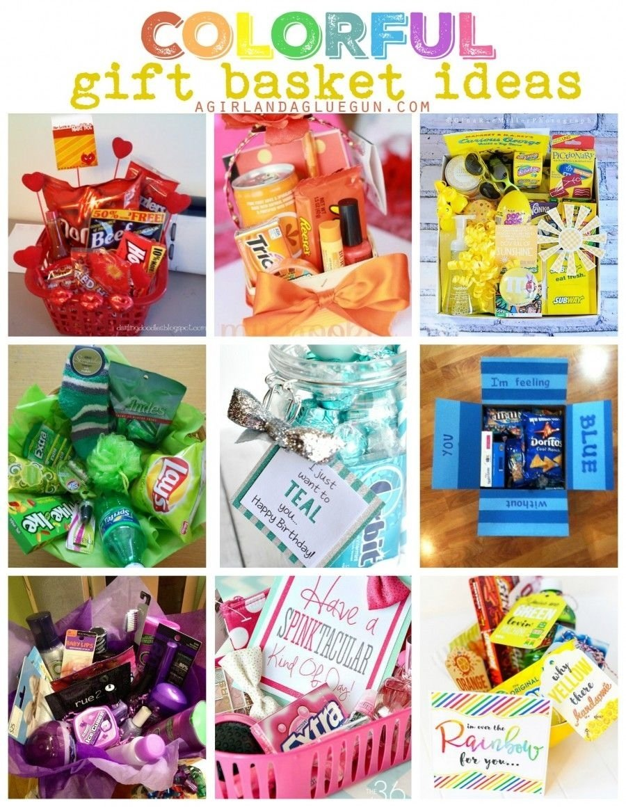 10 Gorgeous Birthday Gift Ideas For Sister Colorful Basket And Birthdays