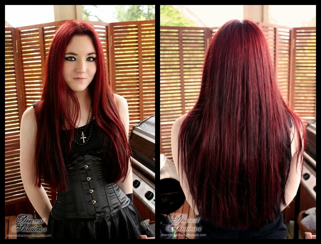 10 Amazing Dark Red Hair Color Ideas colors dye black hair dark red color ideas medium hair styles 2021