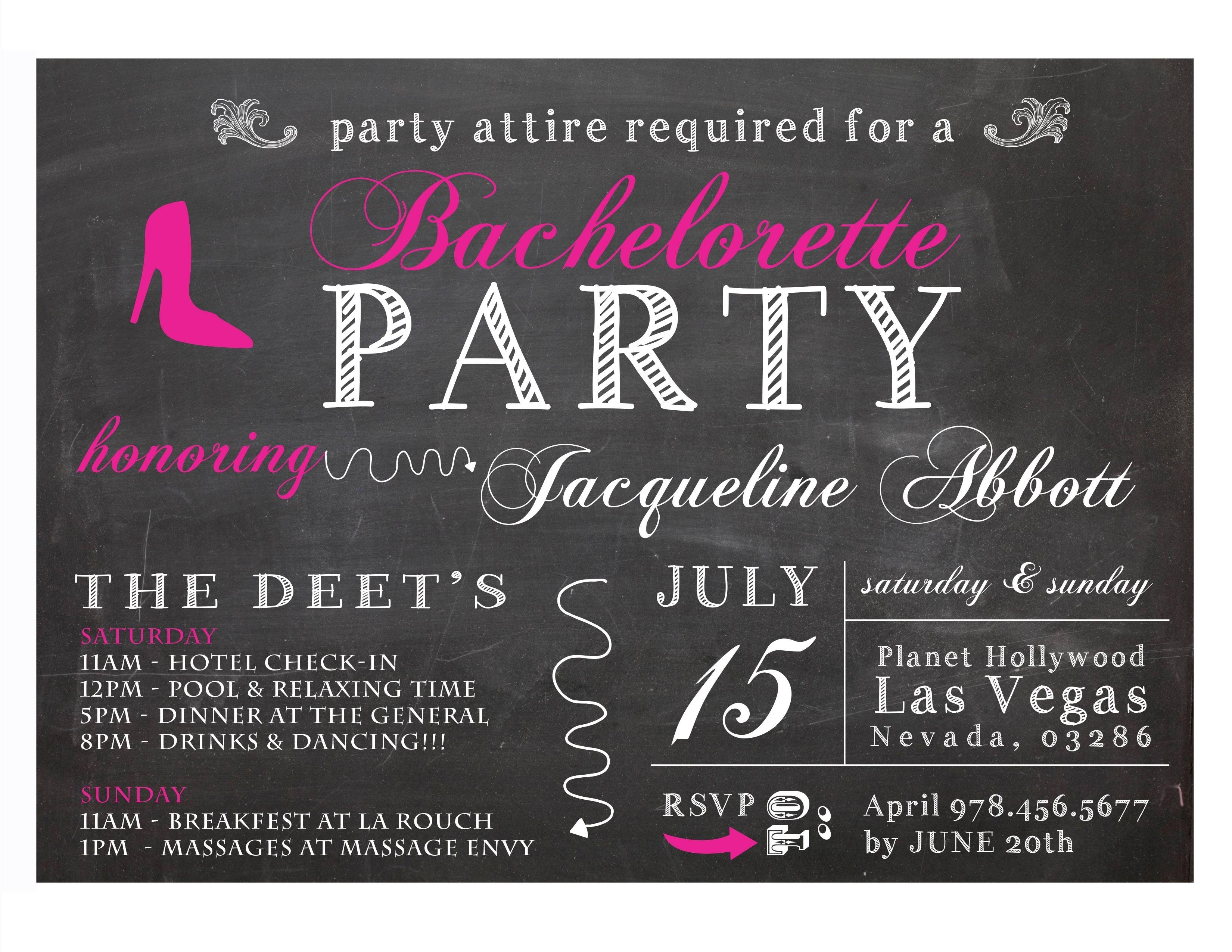 10 Great Combined Bachelor Bachelorette Party Ideas comely bachelorette party invitation with black background colors 2020