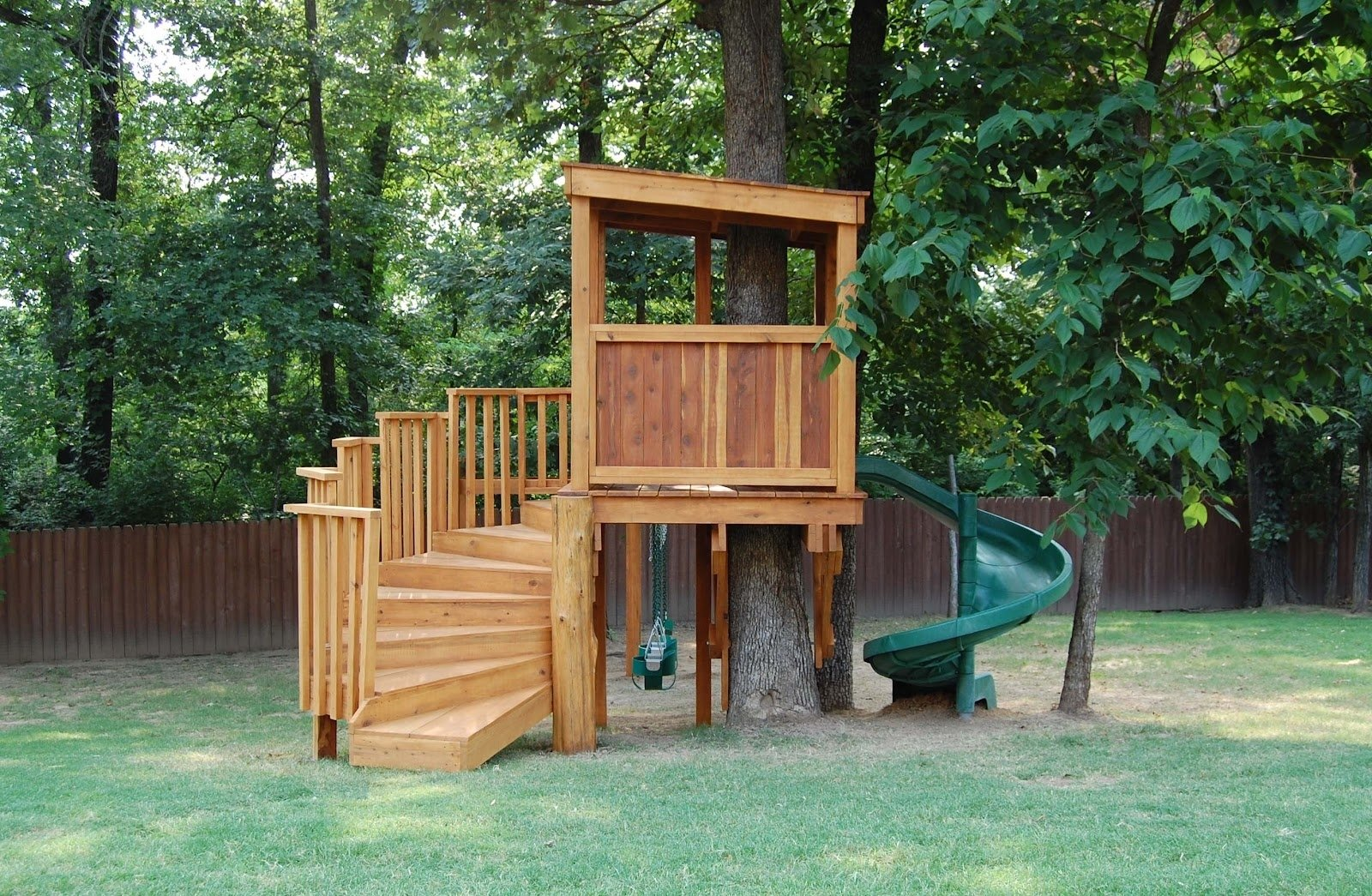 10 Wonderful Tree House Ideas For Kids comfortable simple tree house plans for kids with unique shape green 2020