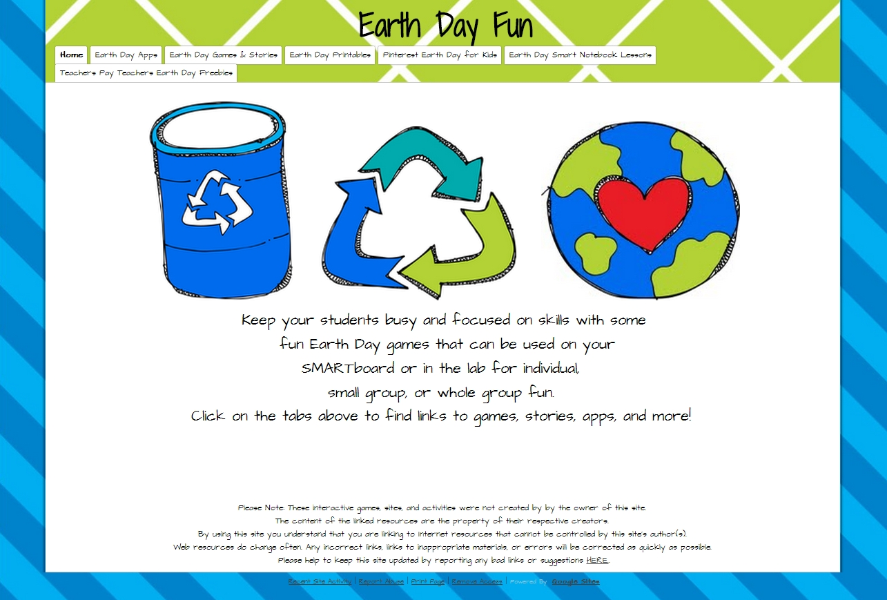 common core and educational technology: earth day is april 22nd