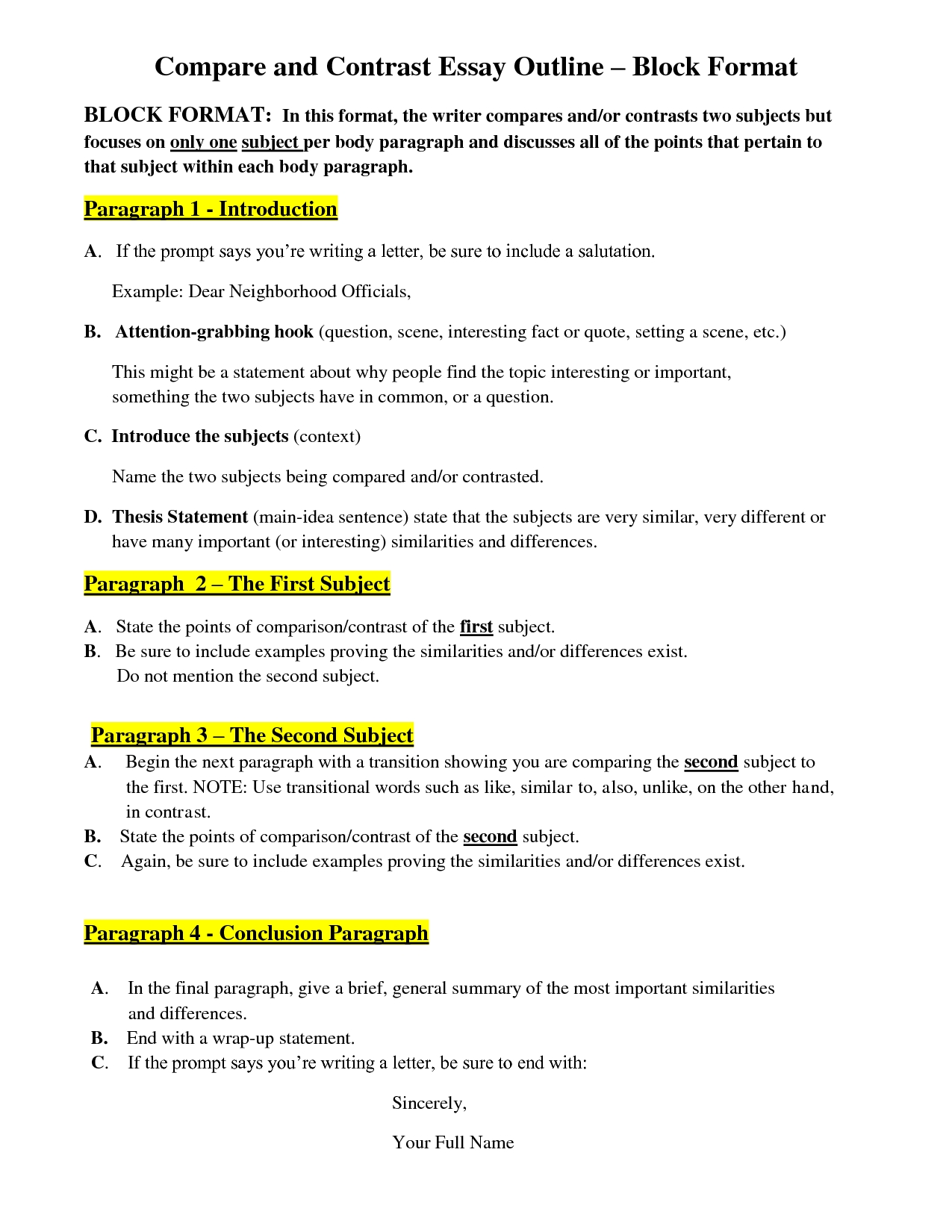10 Unique Ideas For A Compare And Contrast Essay compare and contrast essay topic ideas for college essay thesis 2021