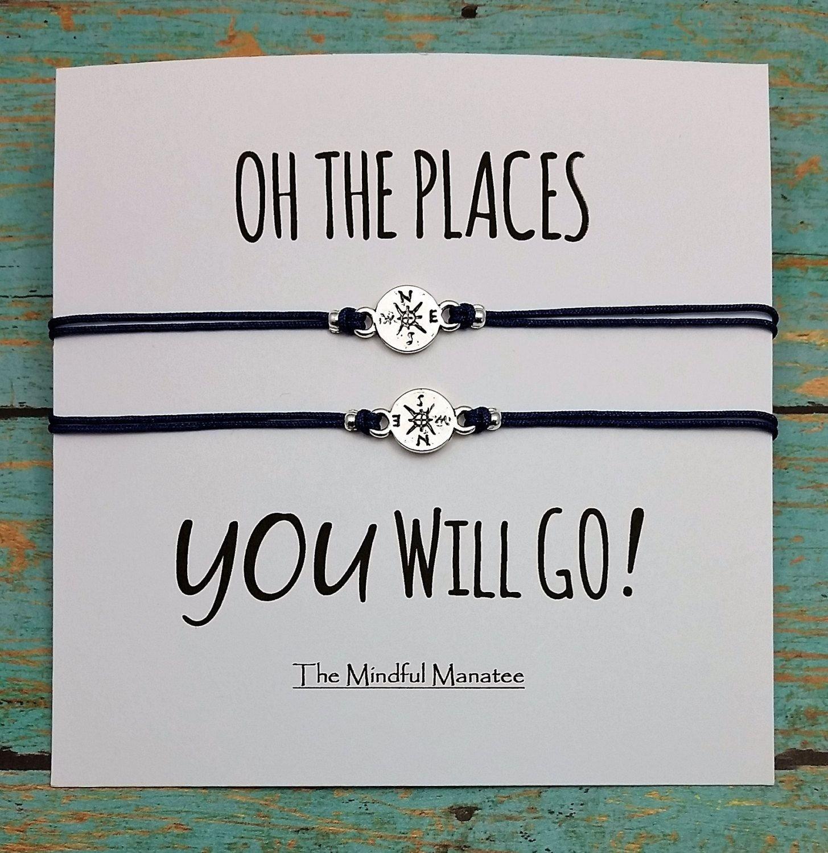 10 Amazing Graduation Gift Ideas For Best Friend compass bracelets compass charm bracelets oh the places 1 2021