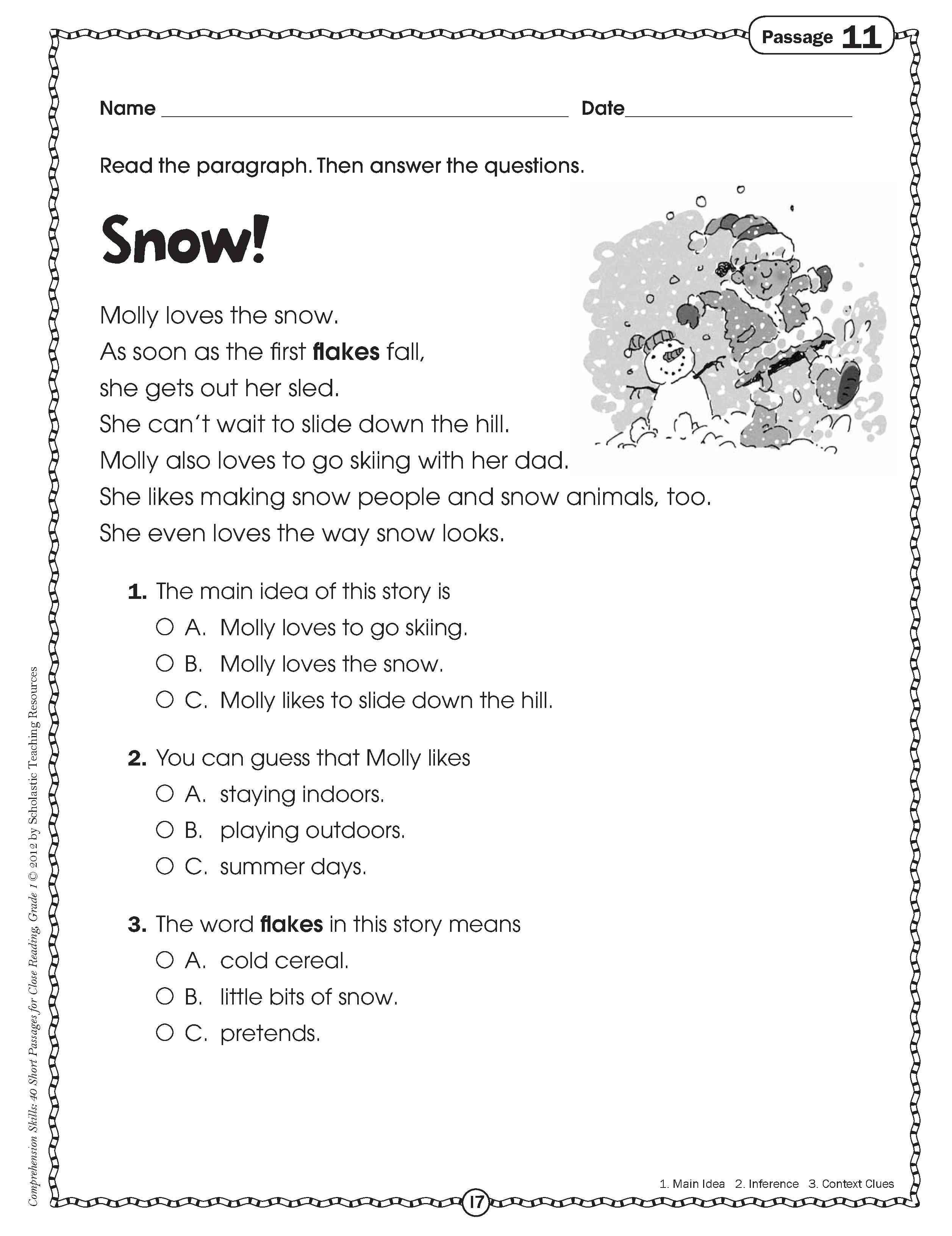 10 Stylish Main Idea Worksheets For 2Nd Grade comprehension worksheets main idea best of sample 3rd grade 3 2021