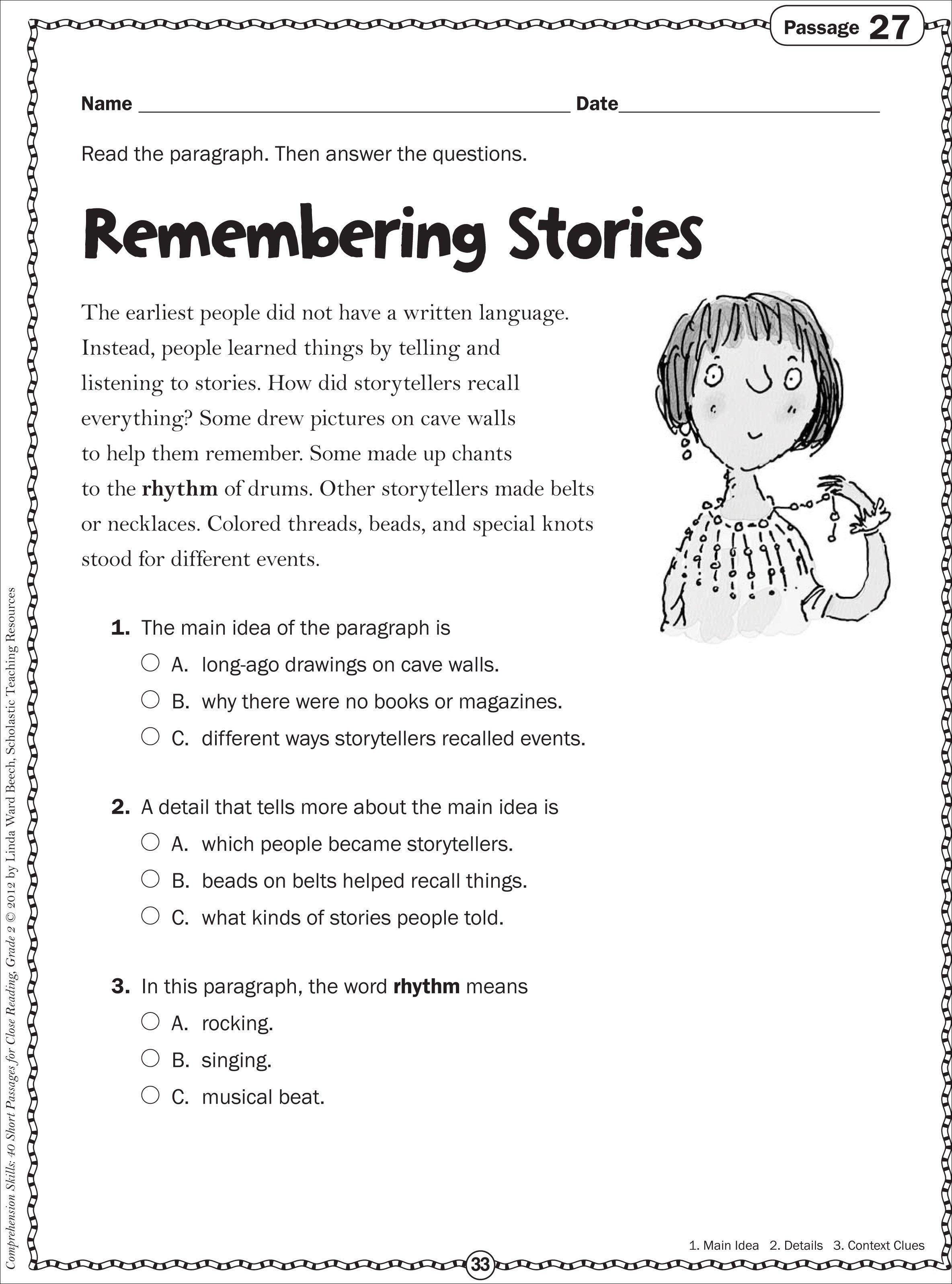 10 Most Popular Teaching Main Idea 3Rd Grade comprehension worksheets main idea best of sample 3rd grade 8