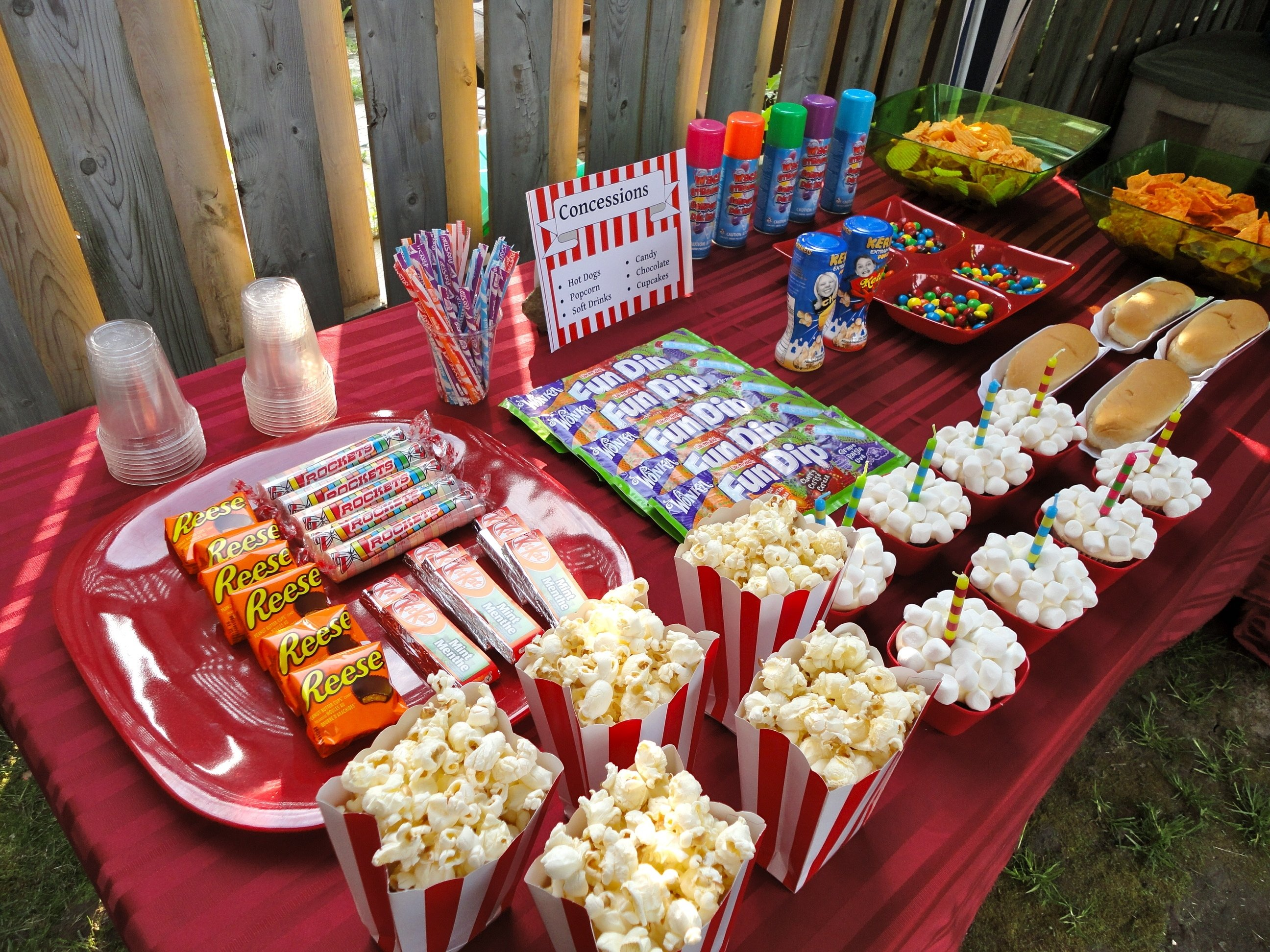 10 Unique Movie Theater Birthday Party Ideas concession stand backyard drive in birthday party www 2020