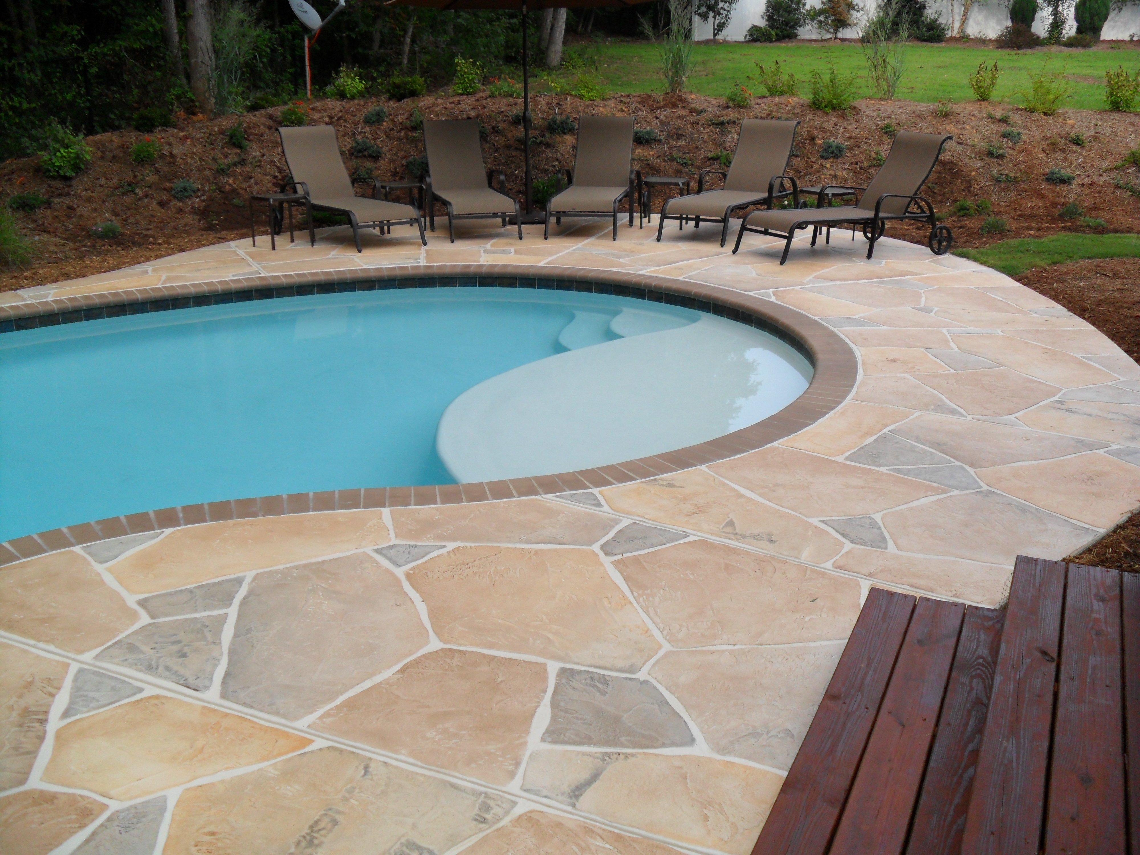 10 Elegant Pool Deck Ideas For Inground Pools concrete and flagstone pool deck designs patio clipgoo 2021