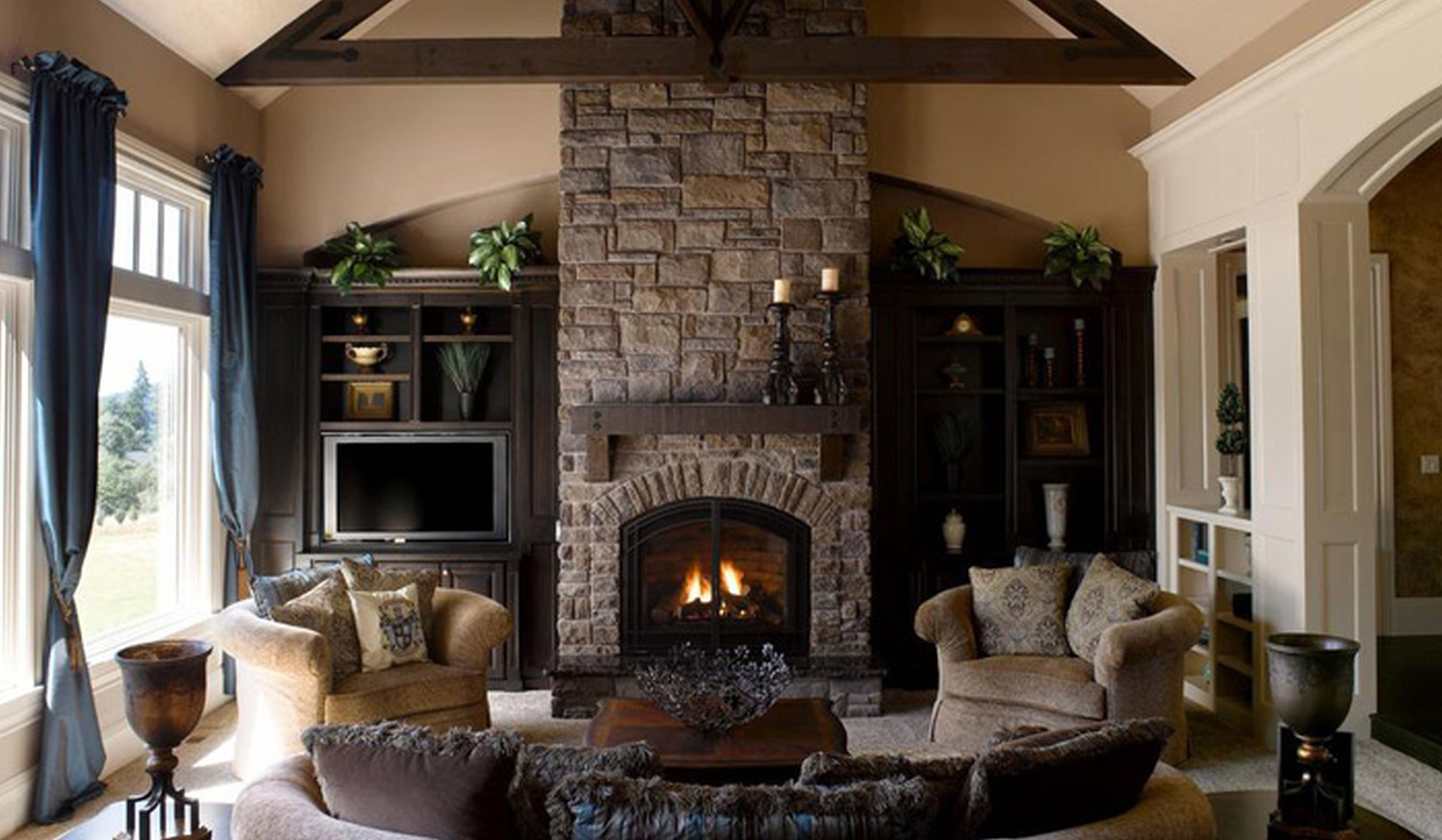 10 Unique Living Room With Fireplace Decorating Ideas condo living room with fireplace design ideashome decorating ideas