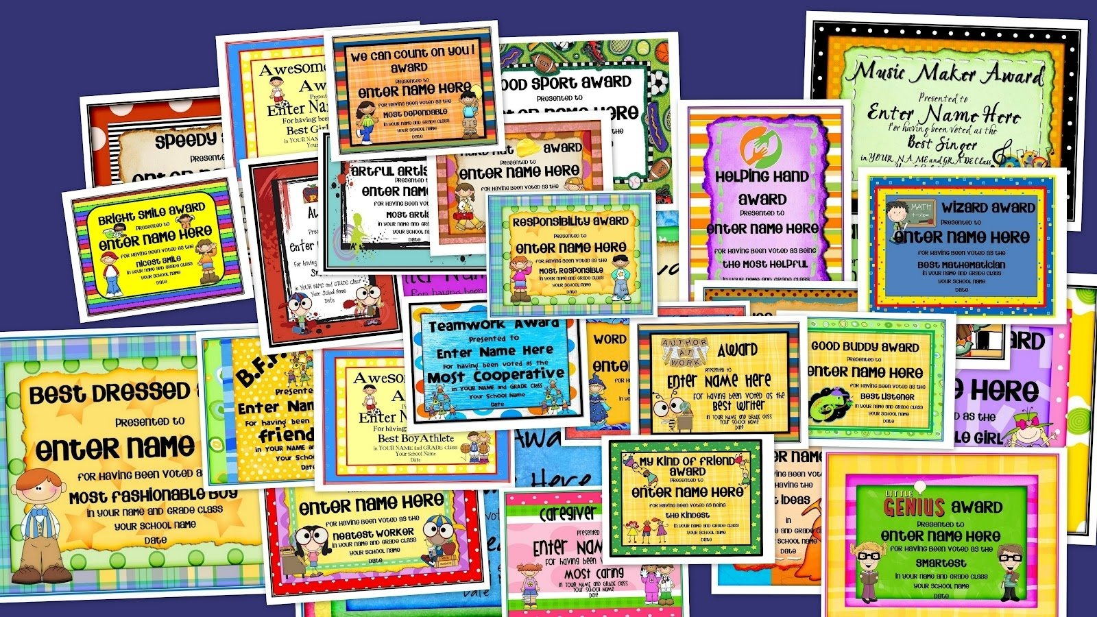 confessions of a teaching junkie: end-of-the-year award certificates