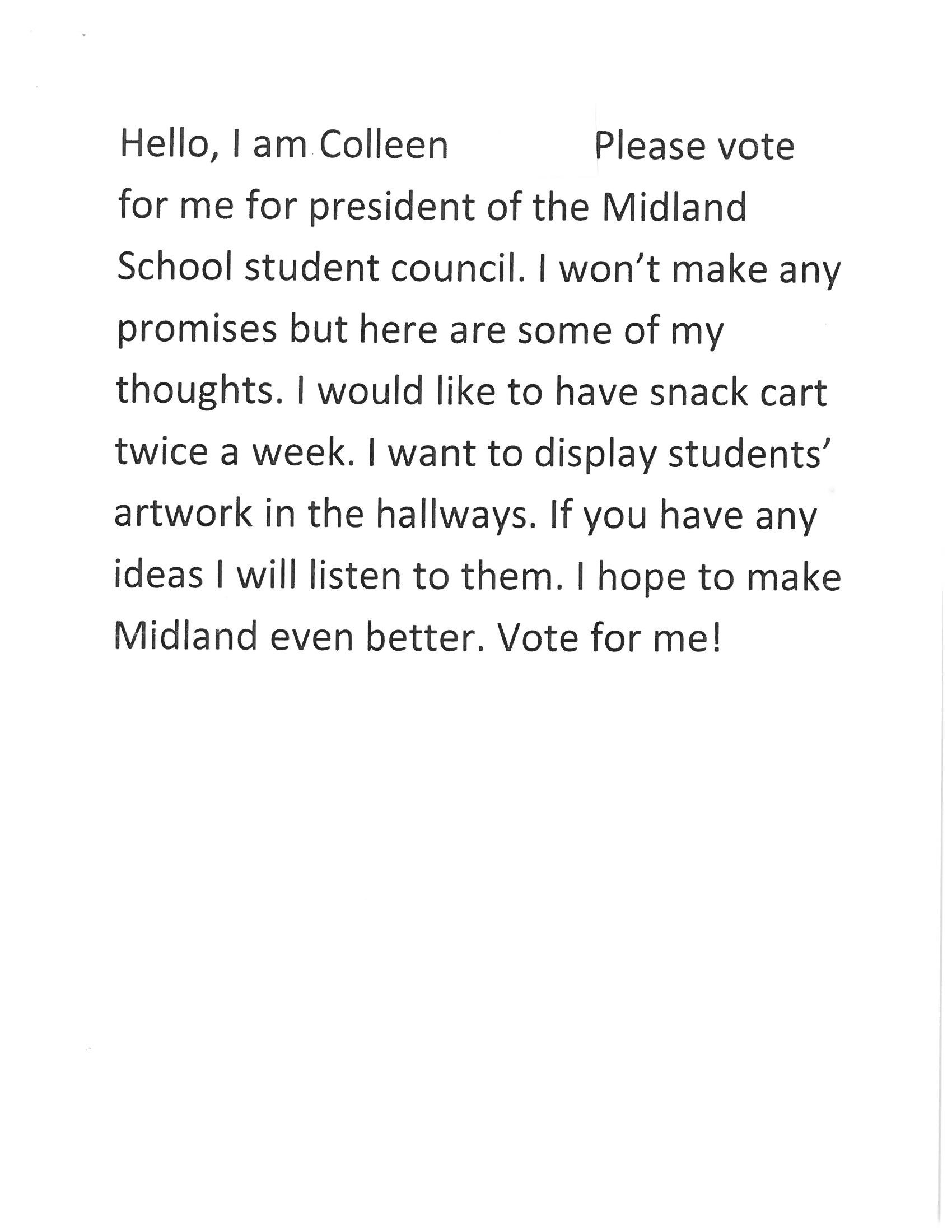 10 Fantastic Ideas For Student Council Speeches congratulations to all the candidates and voters midland school