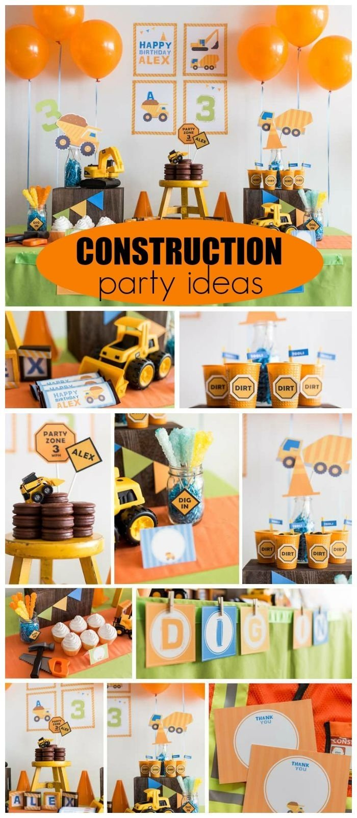 "construction / birthday ""construction party"" 