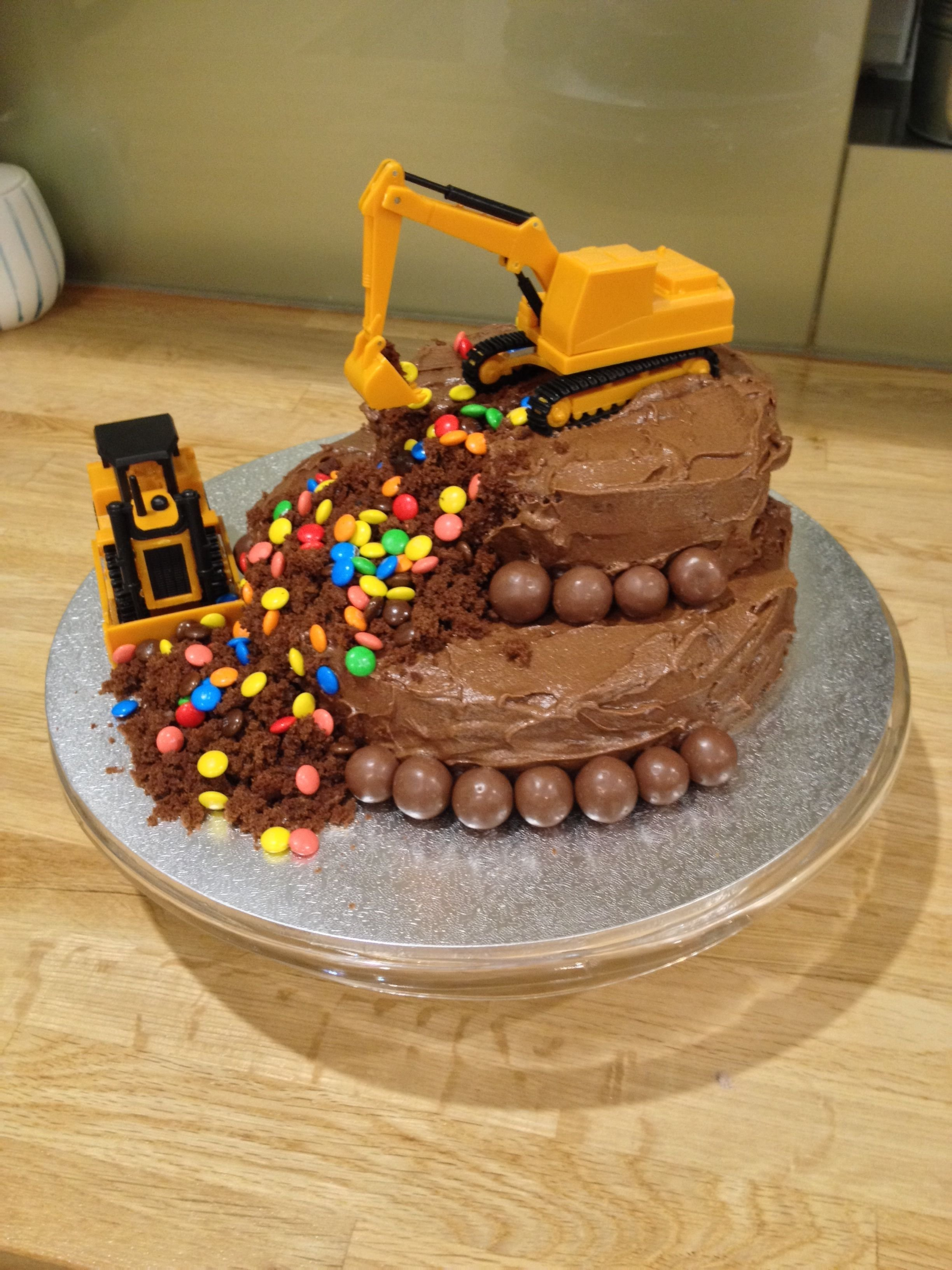 10 Fantastic 3 Year Old Birthday Cake Ideas construction theme cake for my 3 year old boy who loves mms
