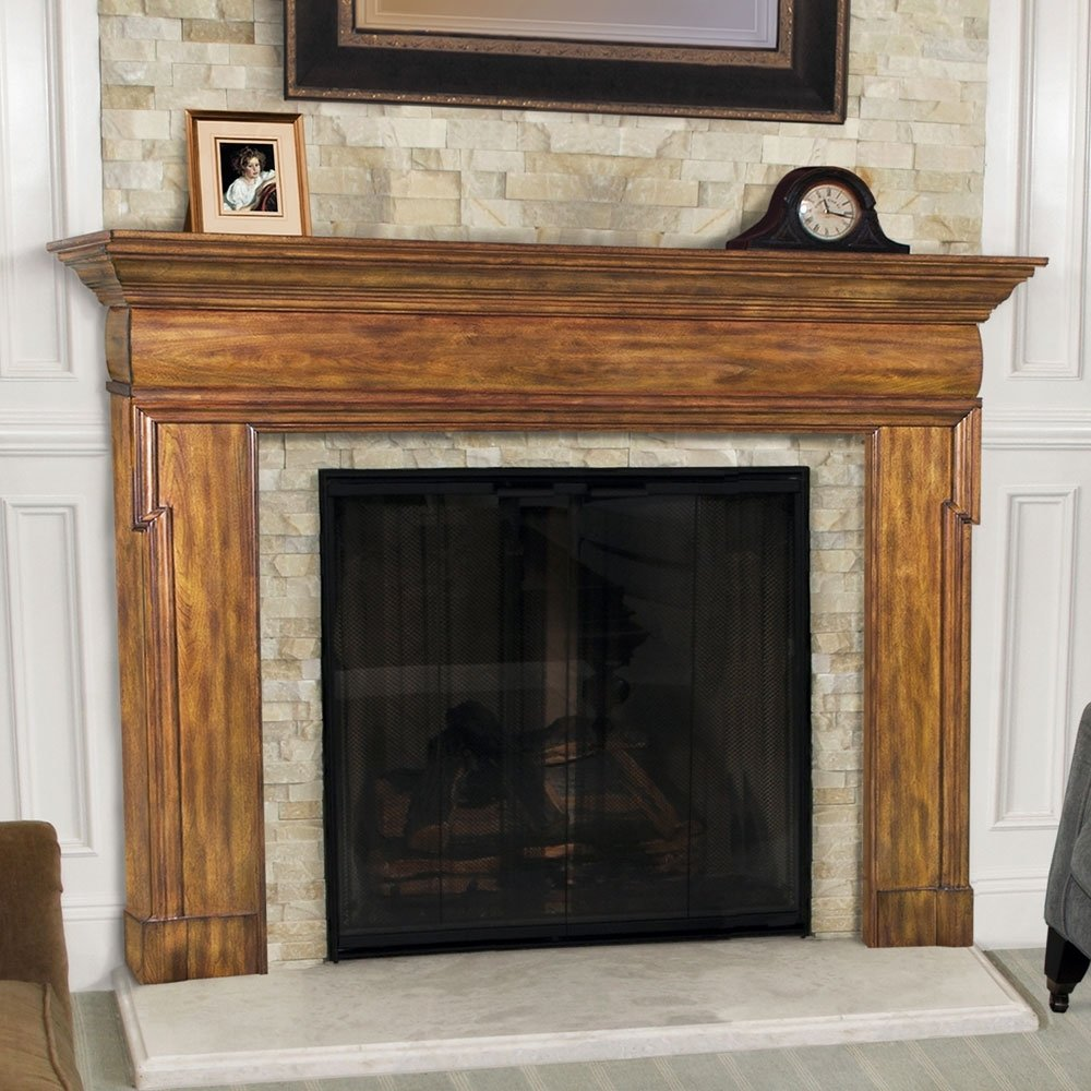 10 Most Recommended Fireplace Mantels And Surrounds Ideas contemporary fireplace mantel wood all contemporary design 2020