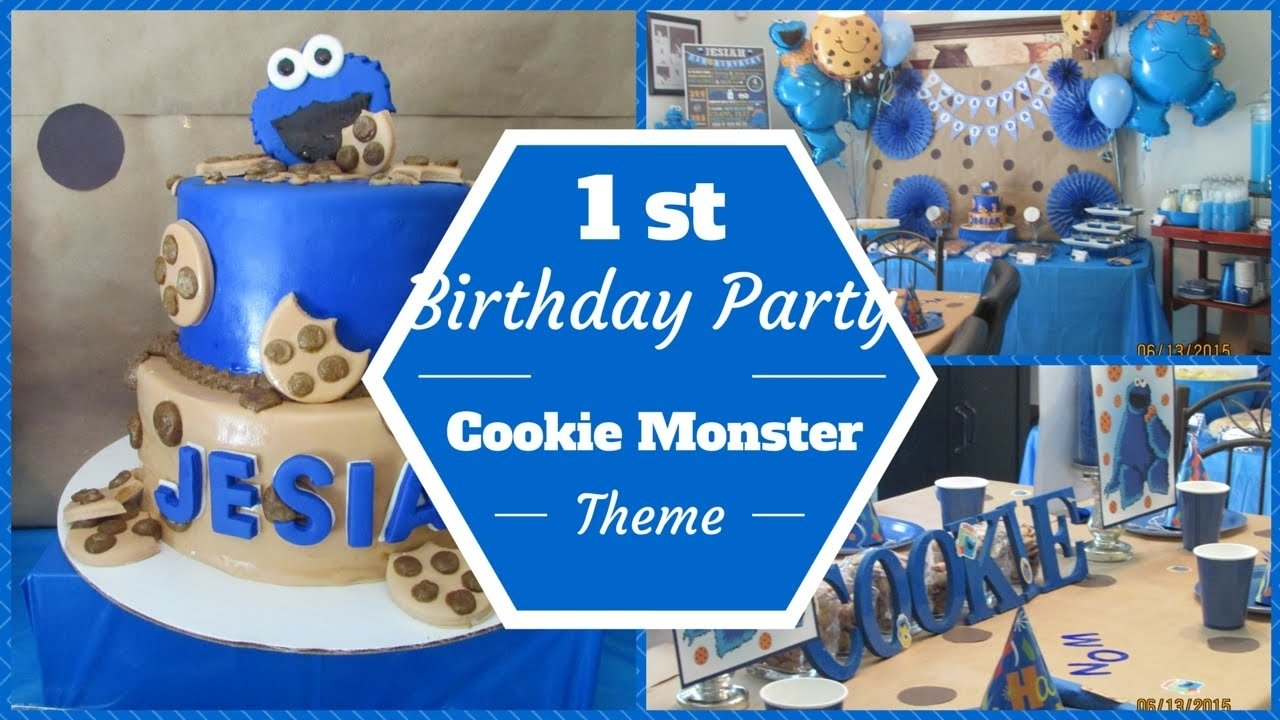 cookie monster theme 1st birthday party ~dollar tree & pinterest