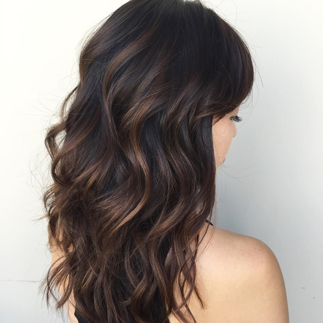 cool 65 phenomenal dark hair with highlights - flattering streaks