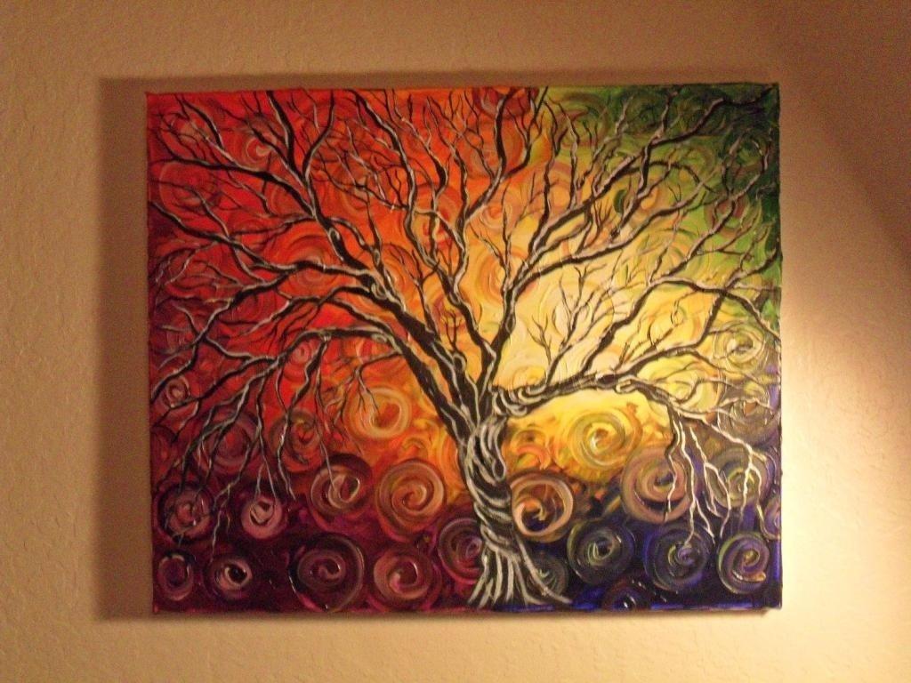 10 Lovable Acrylic Painting On Canvas Ideas cool abstract acrylic painting ideas canvas home art decor 71945