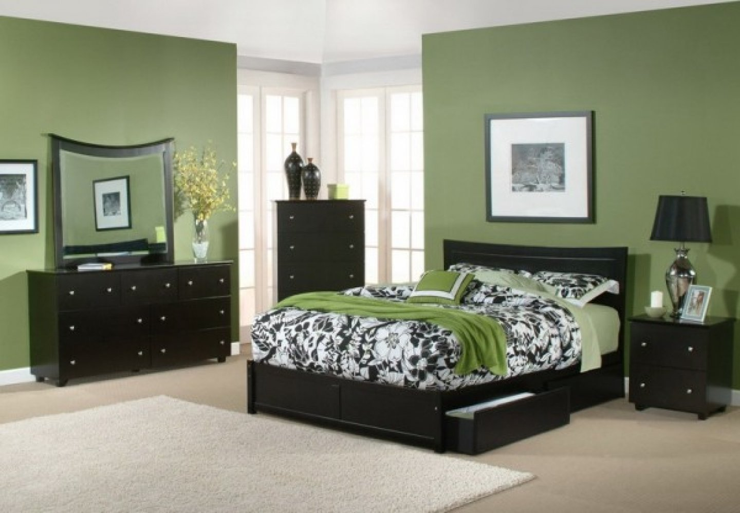 10 Attractive Bedroom Ideas With Black Furniture cool and simple wall colors for bedrooms with dark furniture 2021