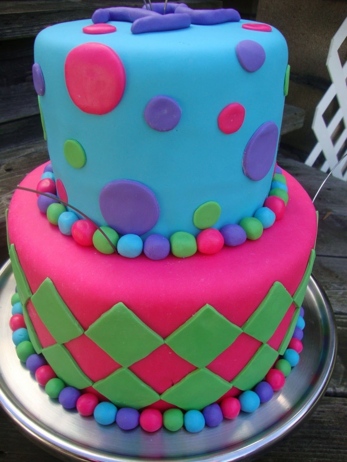cool birthday cake | made this cake for a 12 year old girls birthday