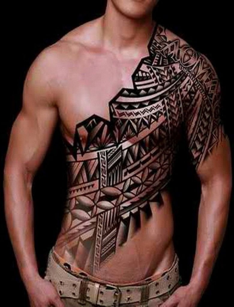 10 Perfect Tribal Tattoo Ideas For Men cool chest tattoo designs for men tatoos pinterest chest 13 2020