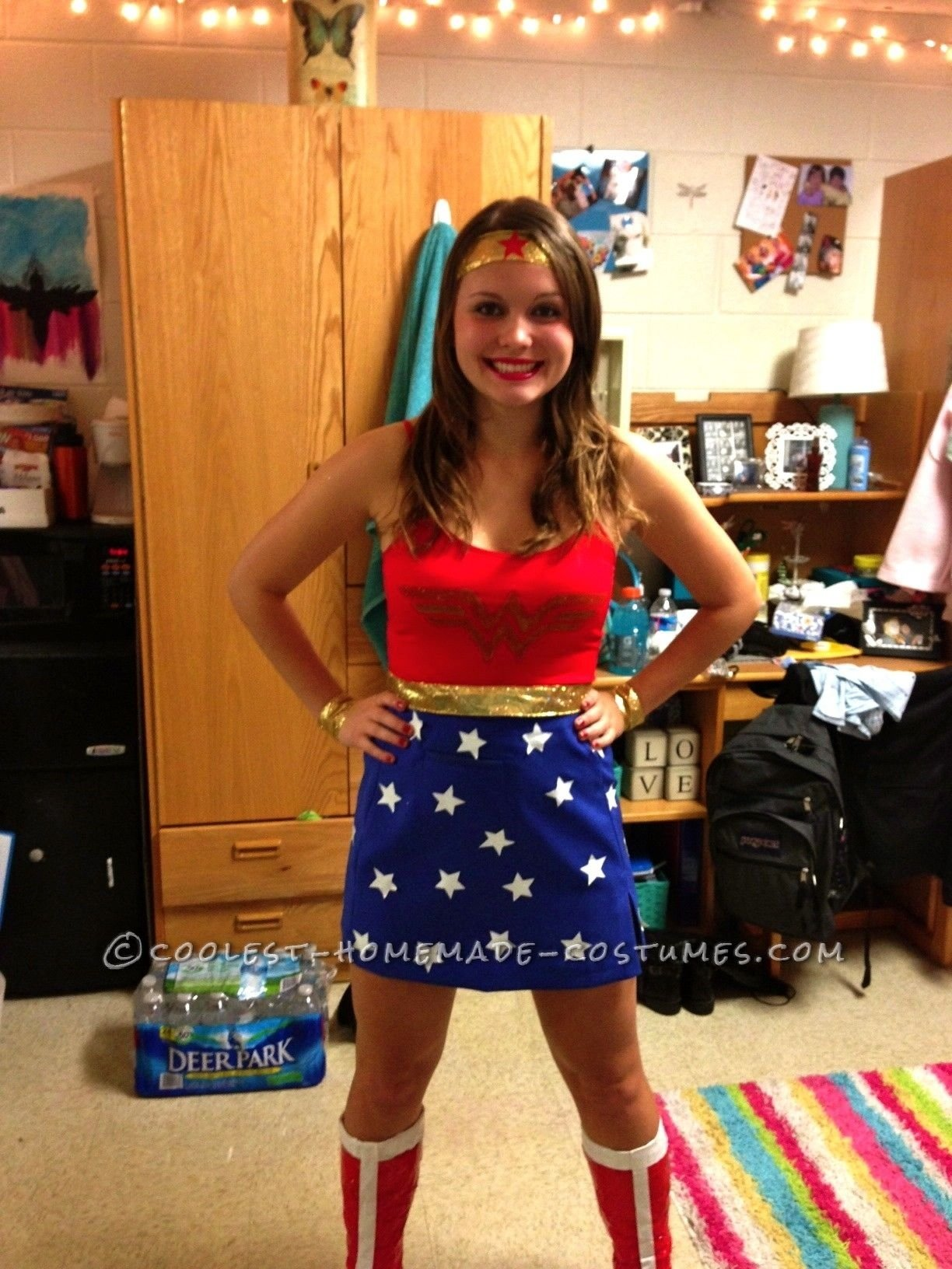 cool homemade wonder woman costume | woman costumes, wonder woman