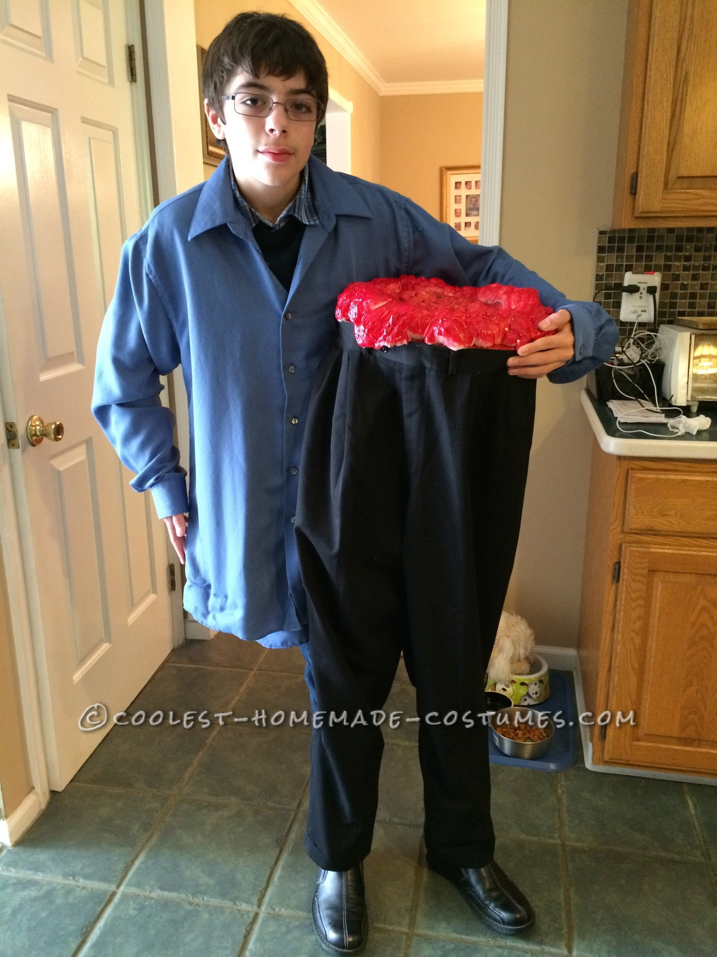 10 trendy cool halloween costume ideas for men cool illusion costume half the man i used