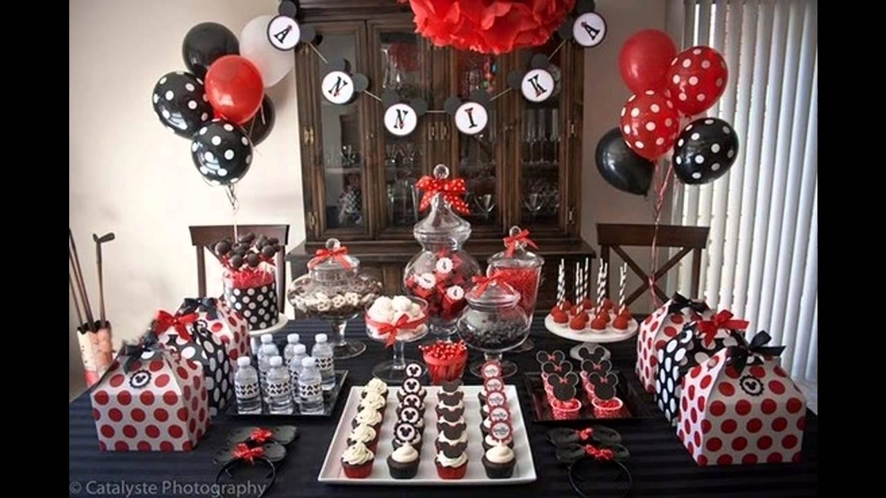 10 Nice Mickey Mouse Birthday Decoration Ideas cool mickey mouse birthday party decorations ideas youtube 2020
