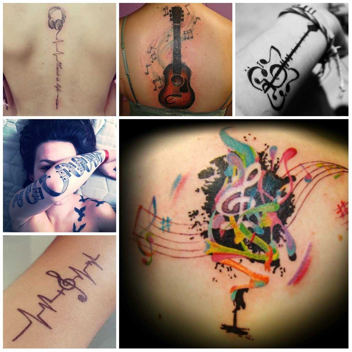10 Stylish Music Tattoo Ideas For Men cool music tattoo designs 2016 tattoos pinterest music tattoos
