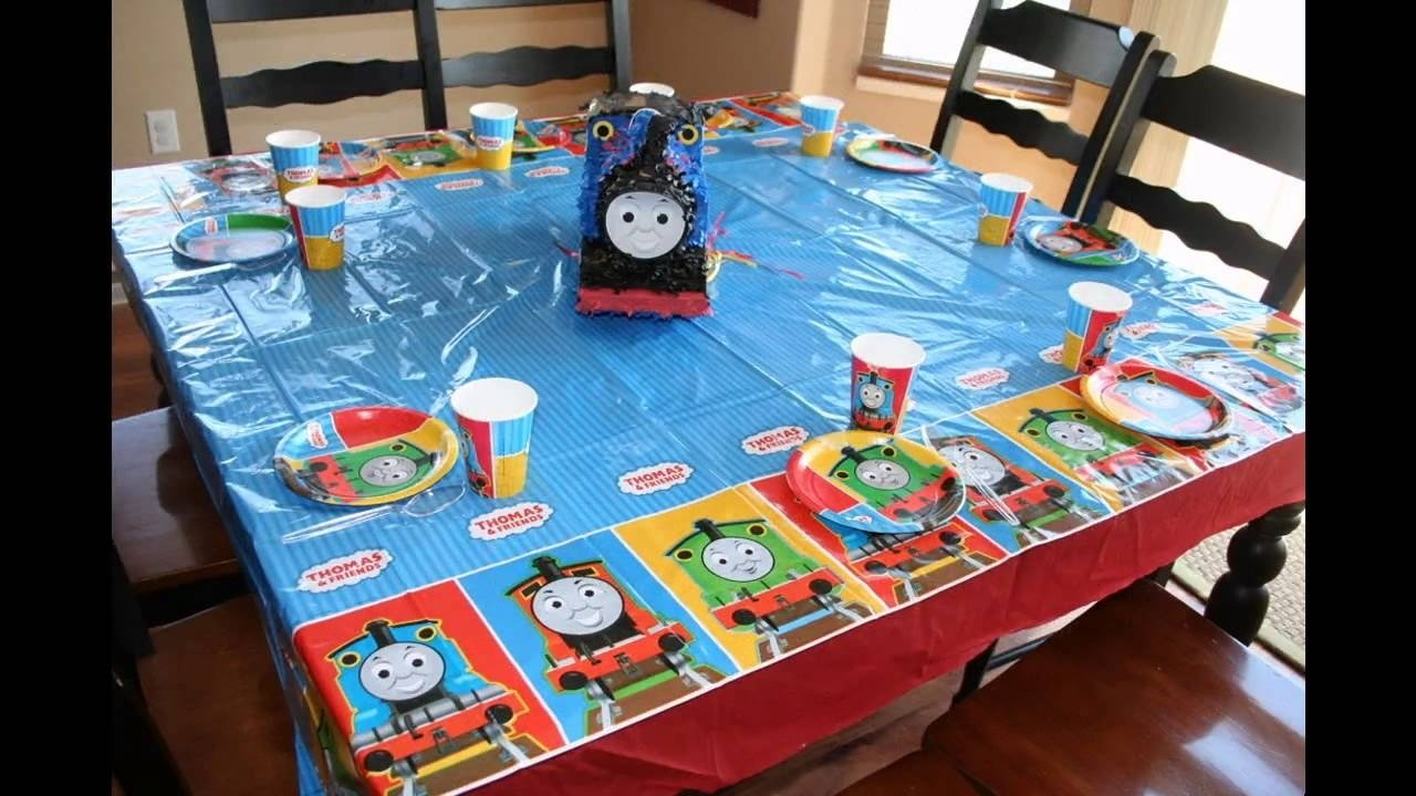 cool thomas the train birthday party ideas - youtube