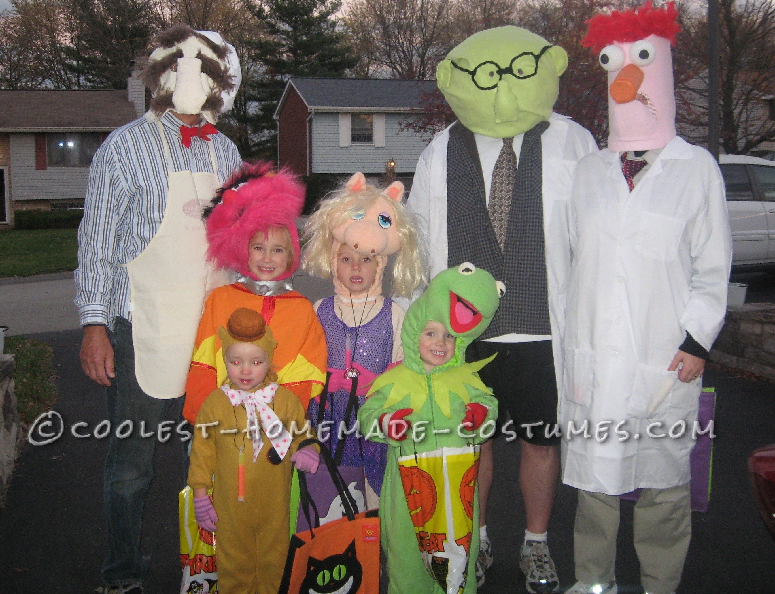 10 Awesome Good Homemade Halloween Costume Ideas coolest homemade muppets family group costume costumes halloween