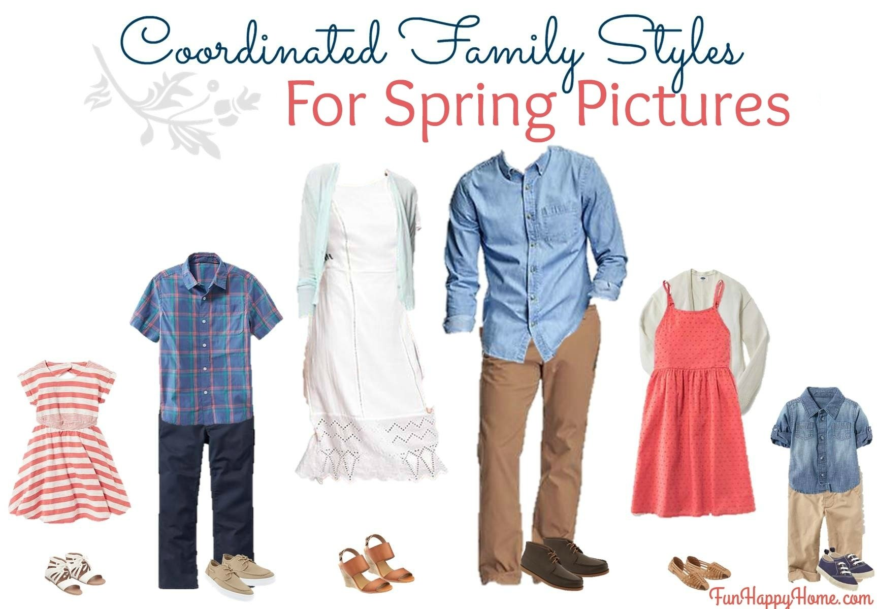10 Wonderful Spring Family Picture Outfit Ideas Coordinated Styles For Pictures Fun Happy Home