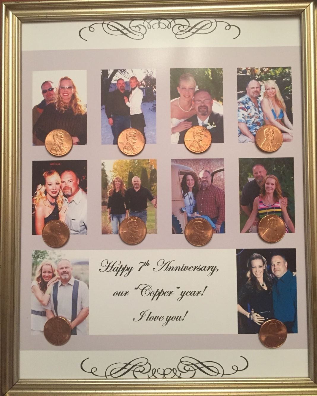 10 Lovable 7Th Wedding Anniversary Gift Ideas copper anniversary 7th anniversary gift put a picture for every